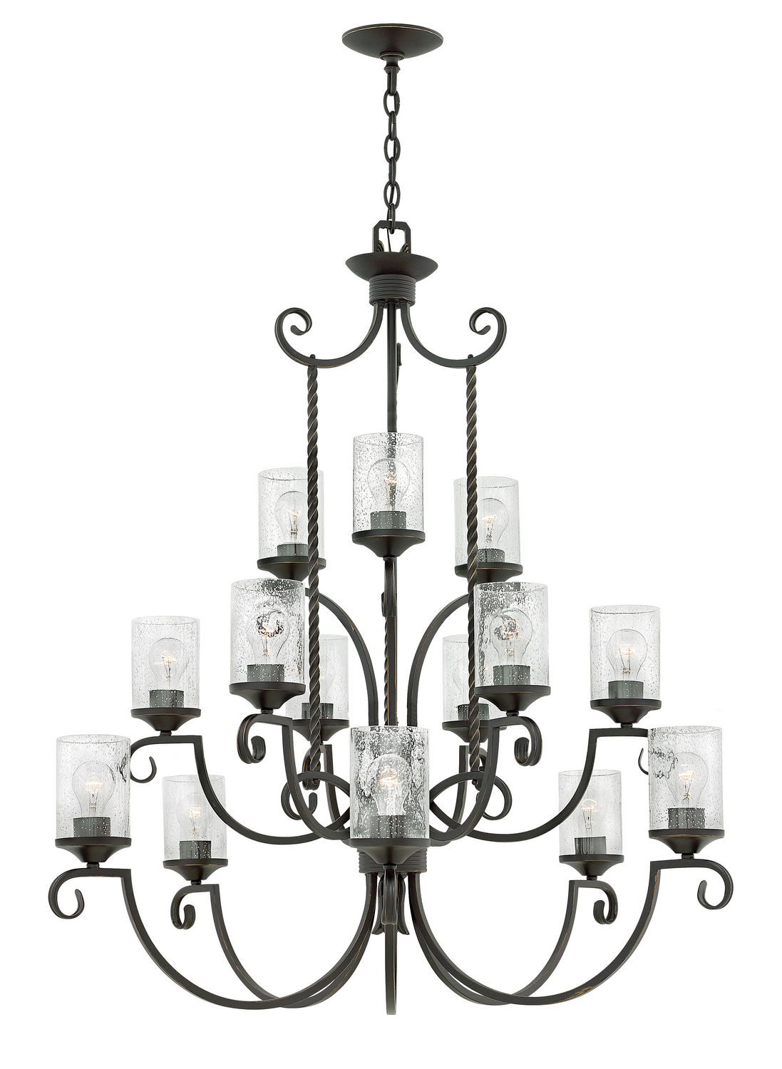 15 Light Chandelier from the Casa collection by Hinkley 4019OL CL