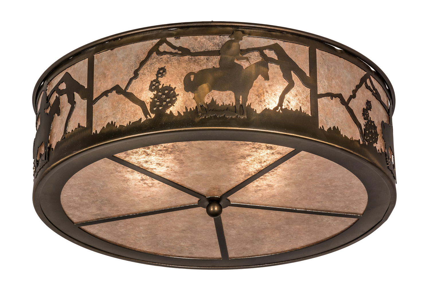 Four Light Flushmount From The Lone Cowboy Collection By Meyda Tiffany 166016