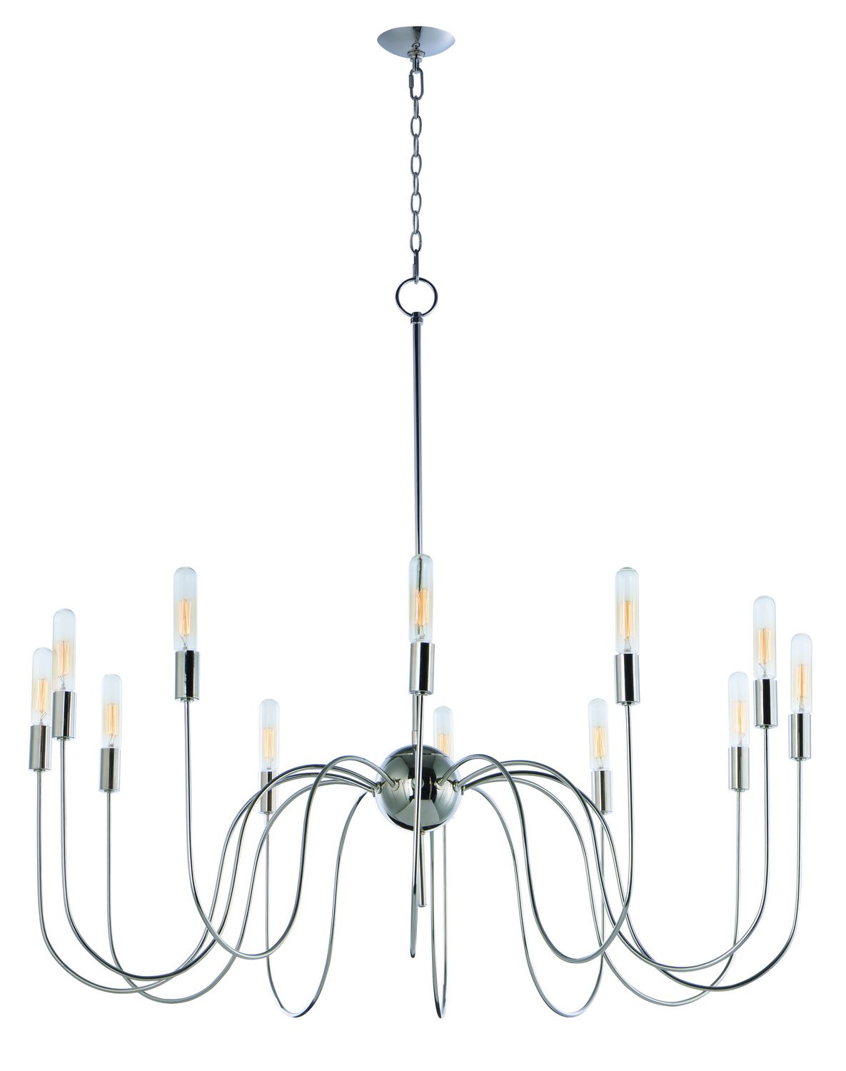 12 Light Chandelier from the Willsburg collection by Maxim 22406PN