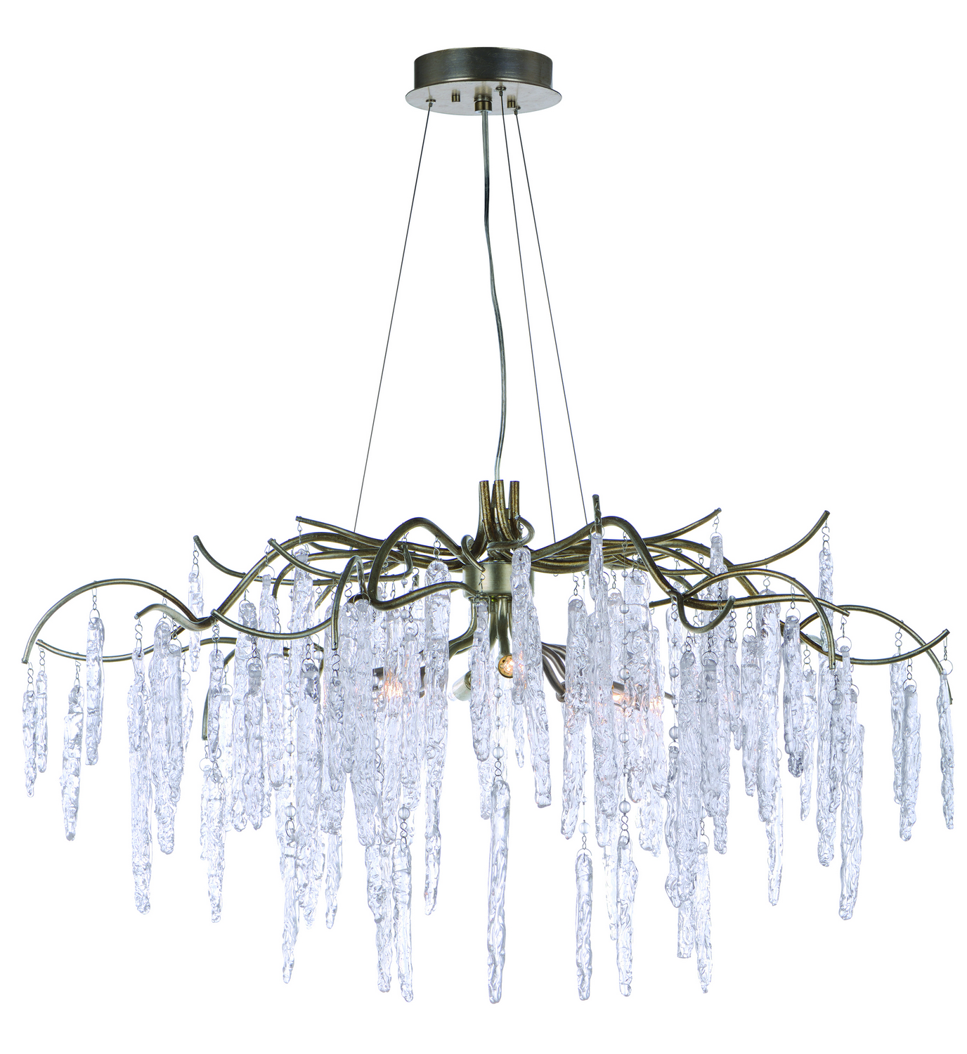 Eight Light Chandelier from the Willow collection by Maxim 26284ICSG