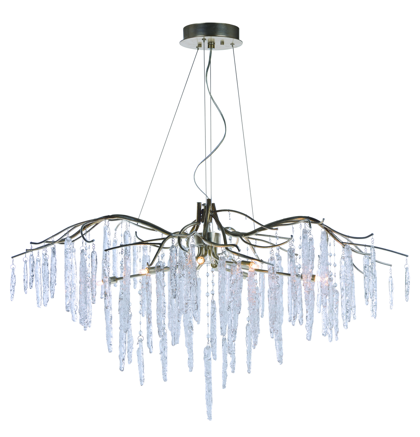 Eight Light Chandelier from the Willow collection by Maxim 26286ICSG