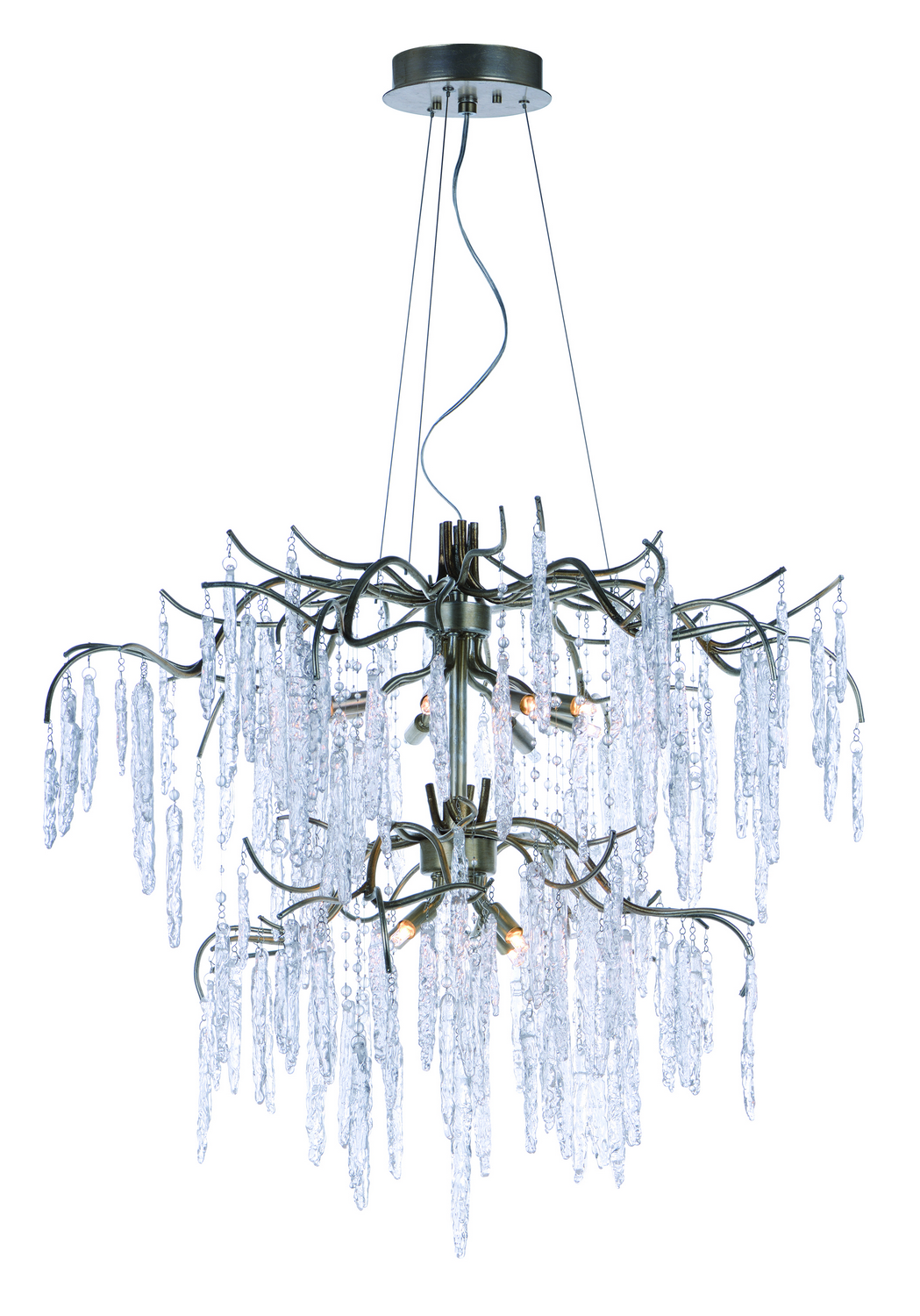 12 Light Chandelier from the Willow collection by Maxim 26288ICSG