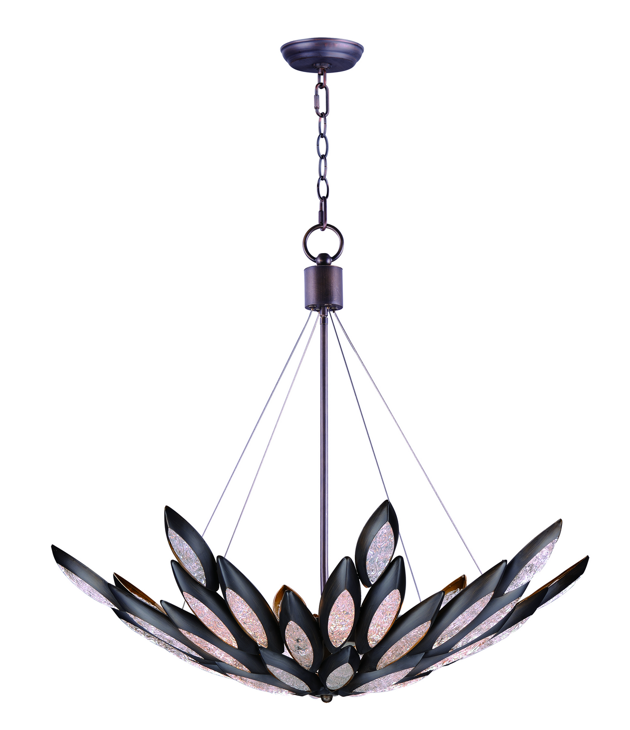 12 Light Pendant from the Lotus collection by Maxim 26316ICBRB
