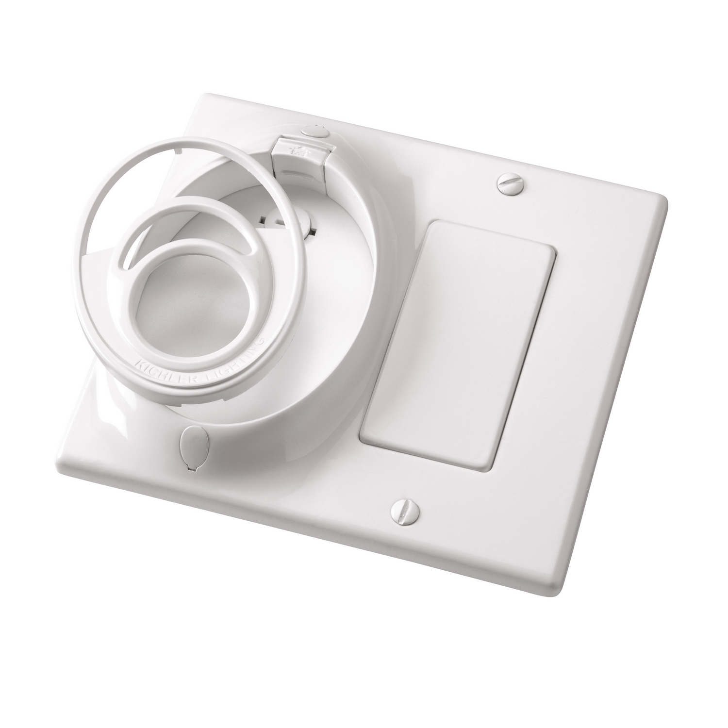 Dual Gang CoolTouch Wall Plate from the Accessory collection by Kichler 370011WH