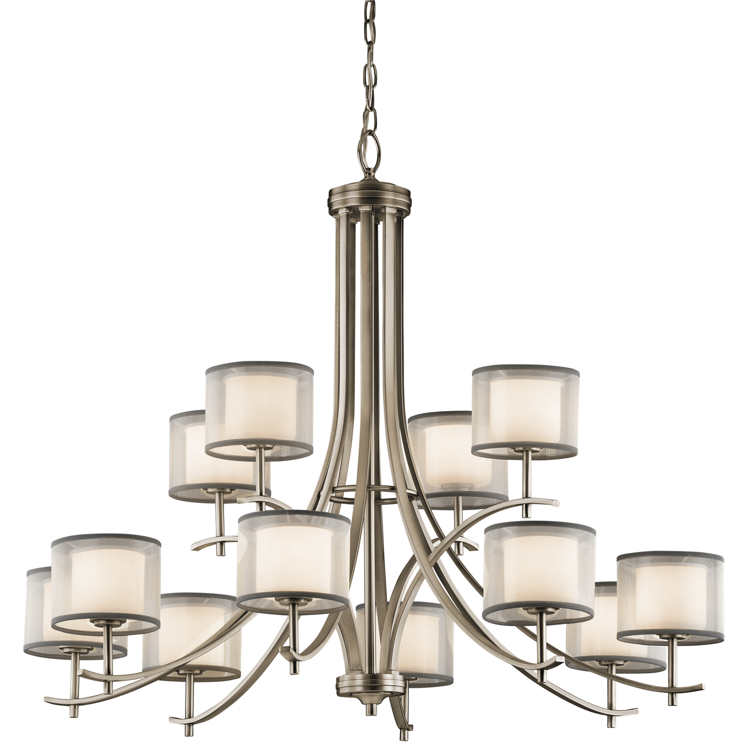 12 Light Chandelier from the Tallie collection by Kichler 43151AP