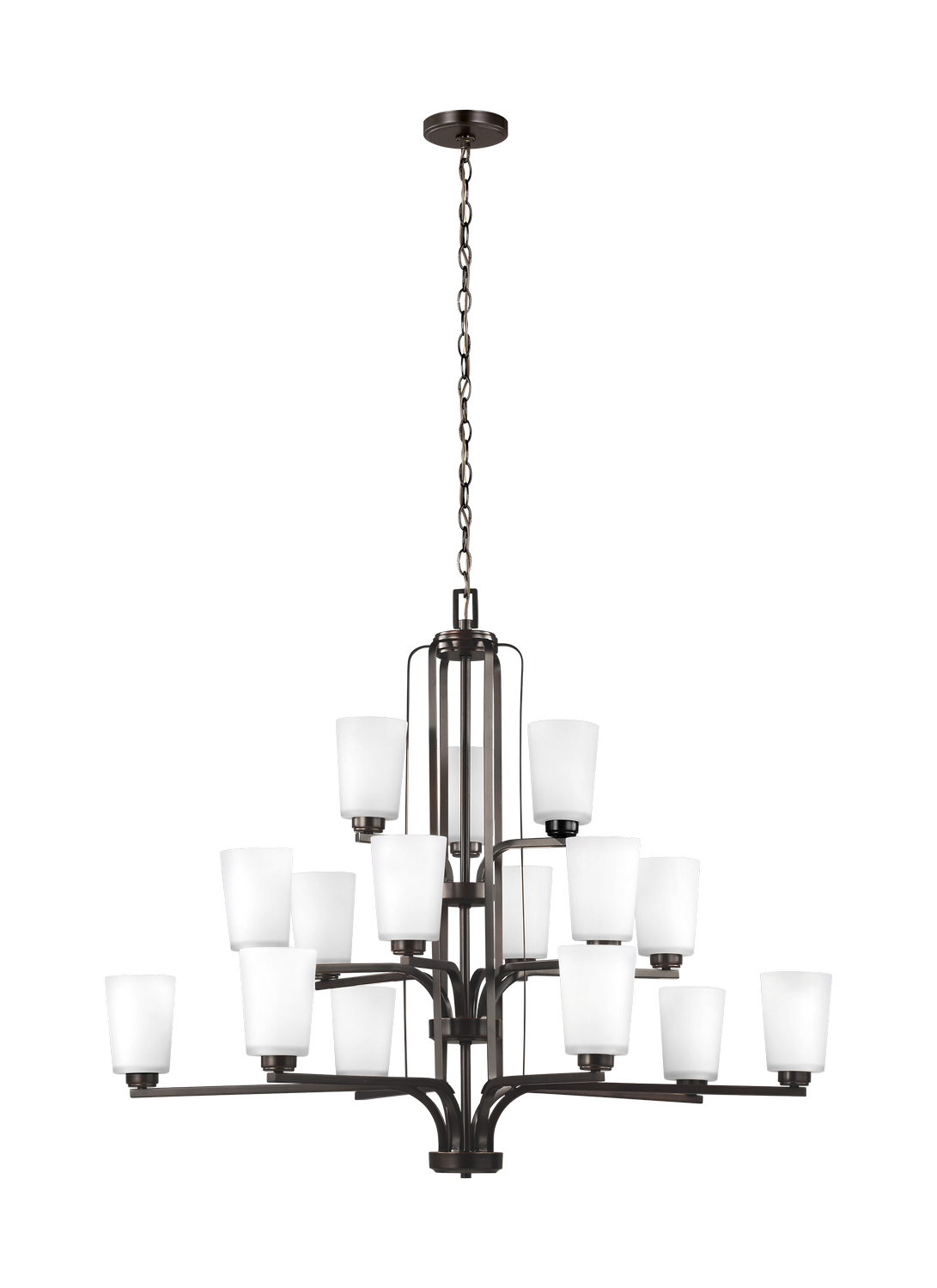 15 Light Chandelier from the Franport collection by Seagull 3128915 710