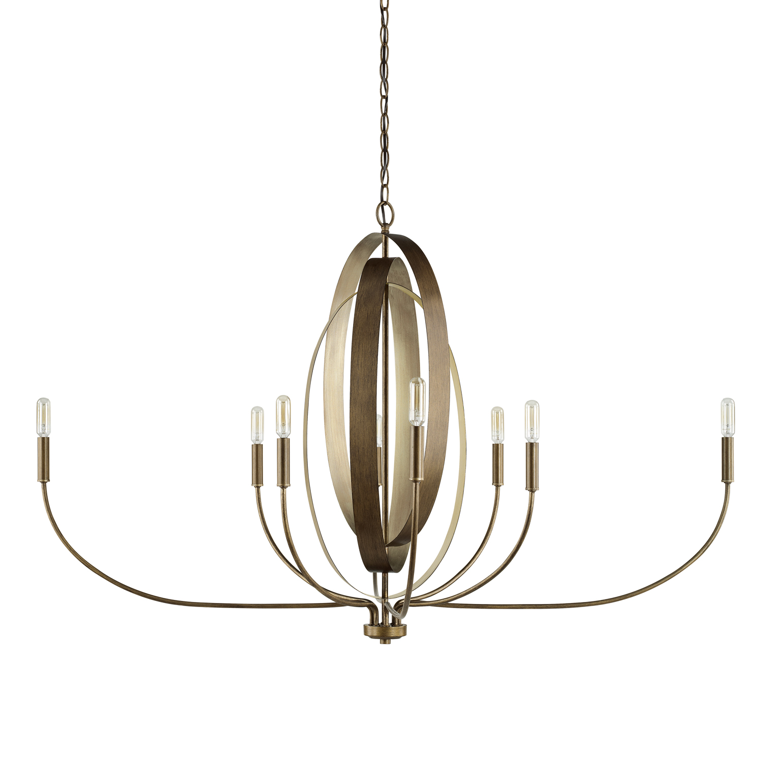 Eight Light Chandelier from the Dahlia collection by Capital Lighting 424981SZ