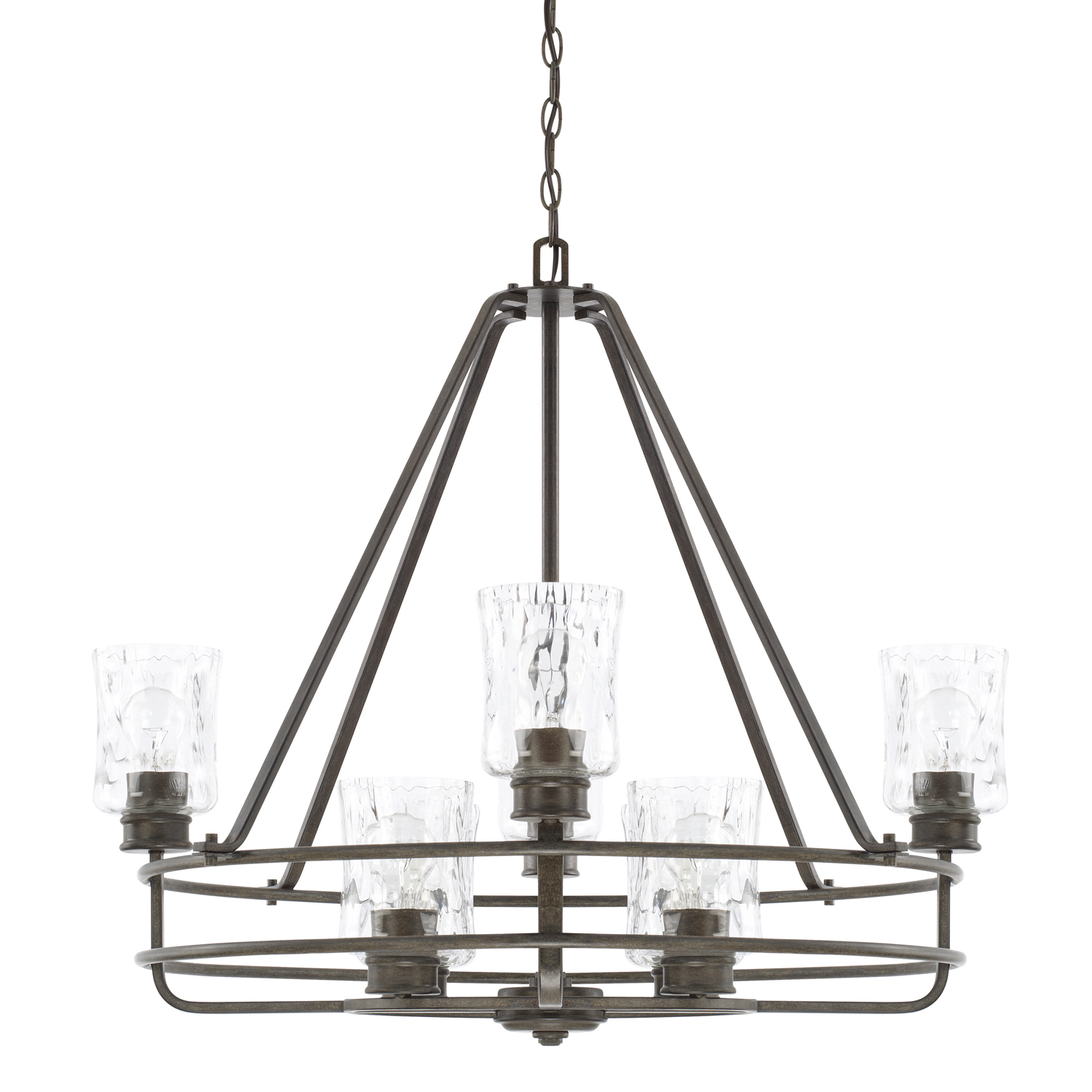 Eight Light Chandelier from the Bristol collection by Capital Lighting 425081FH 425