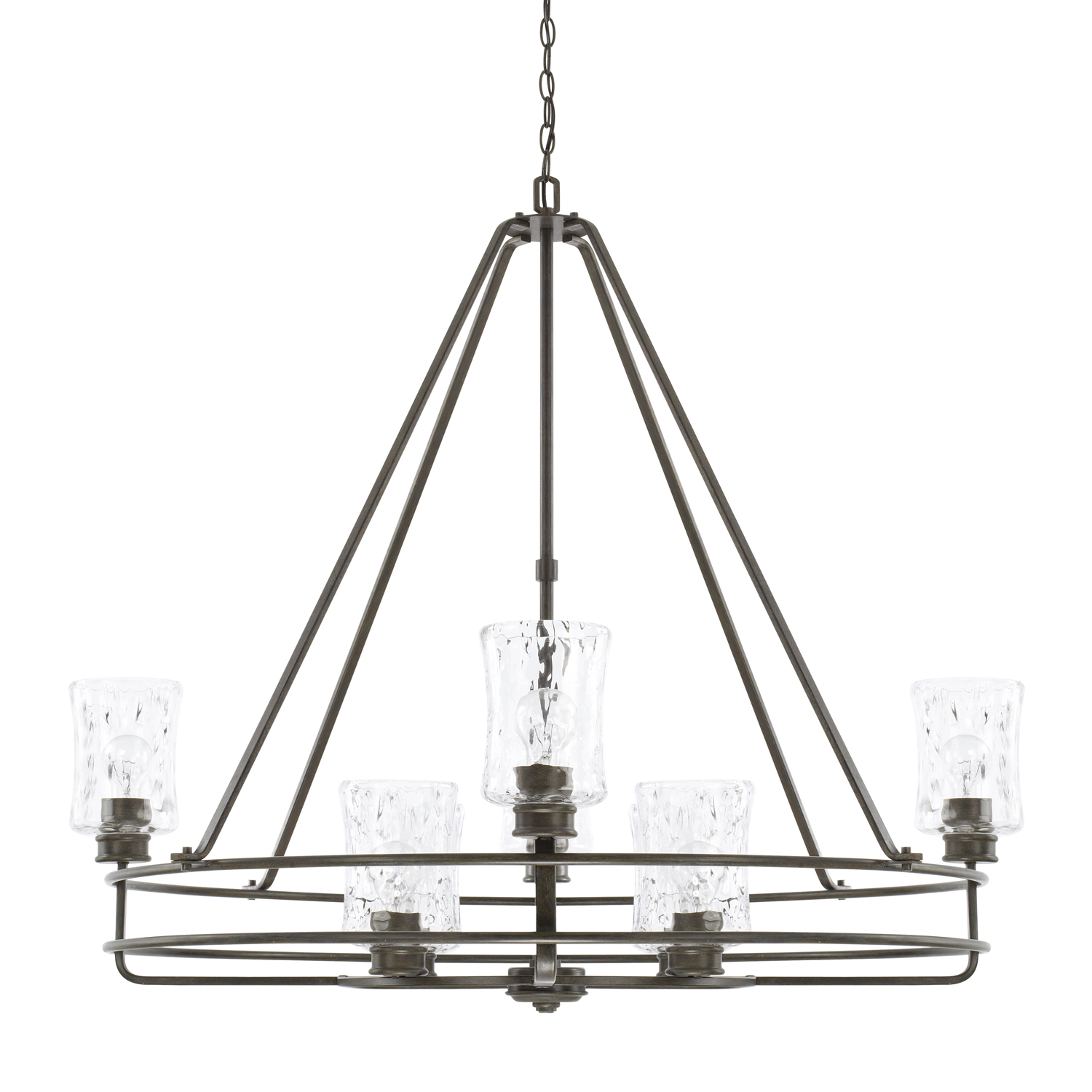 Eight Light Chandelier from the Bristol collection by Capital Lighting 425082FH 444