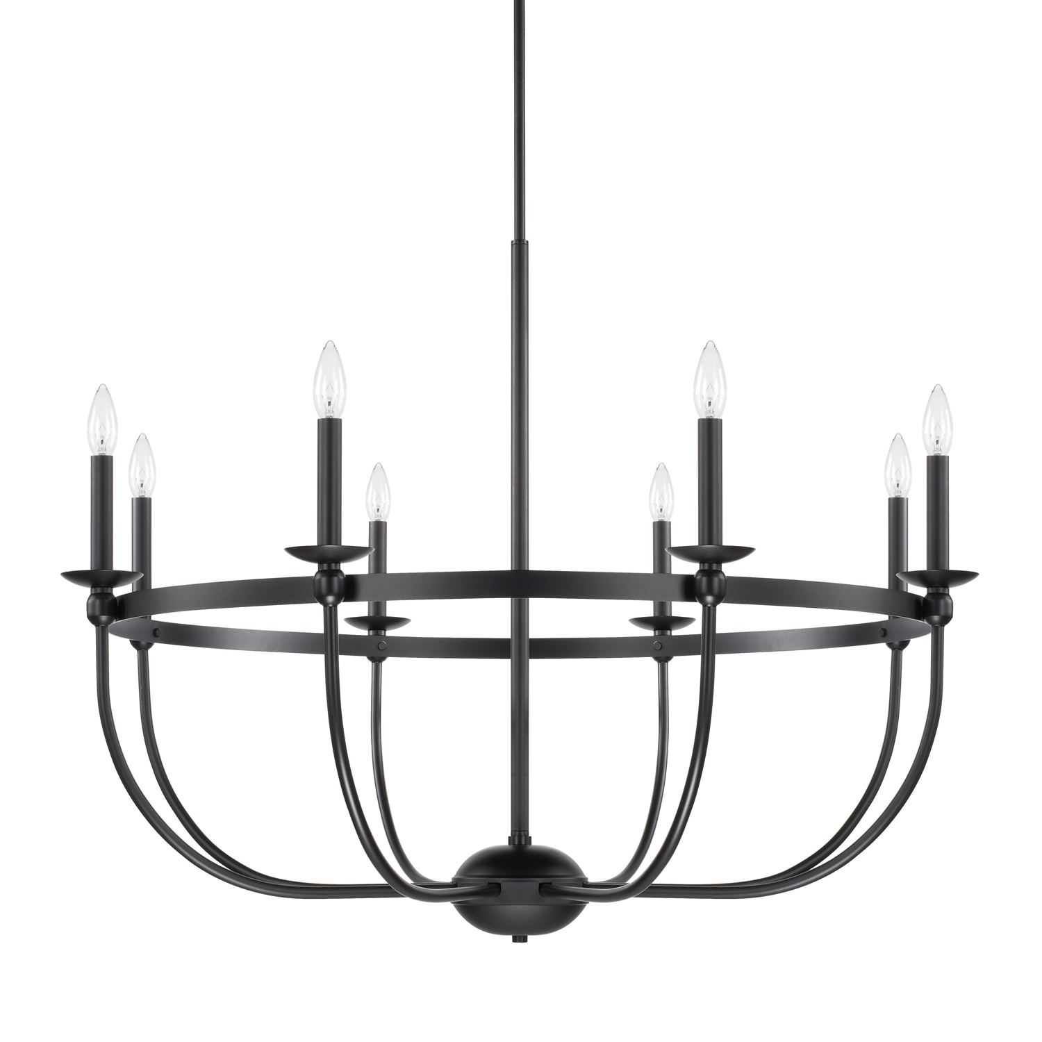 Eight Light Chandelier from the Rylann collection by Capital Lighting 425181MB