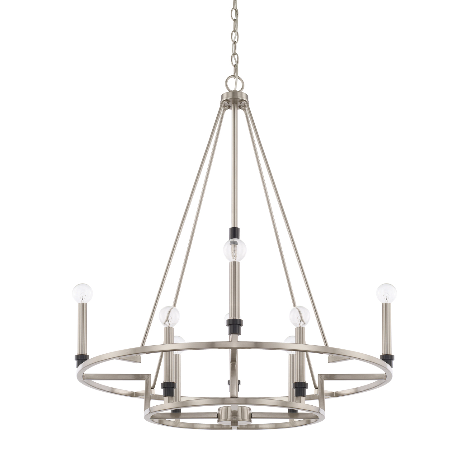 Eight Light Chandelier from the Tux collection by Capital Lighting 425281BT