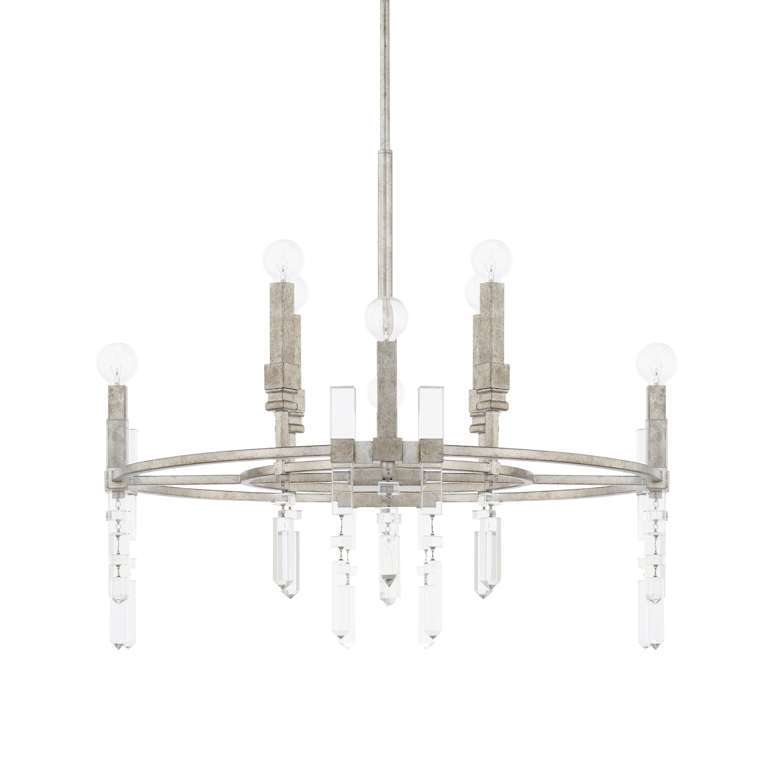 Eight Light Chandelier from the Drake collection by Capital Lighting 425381AS