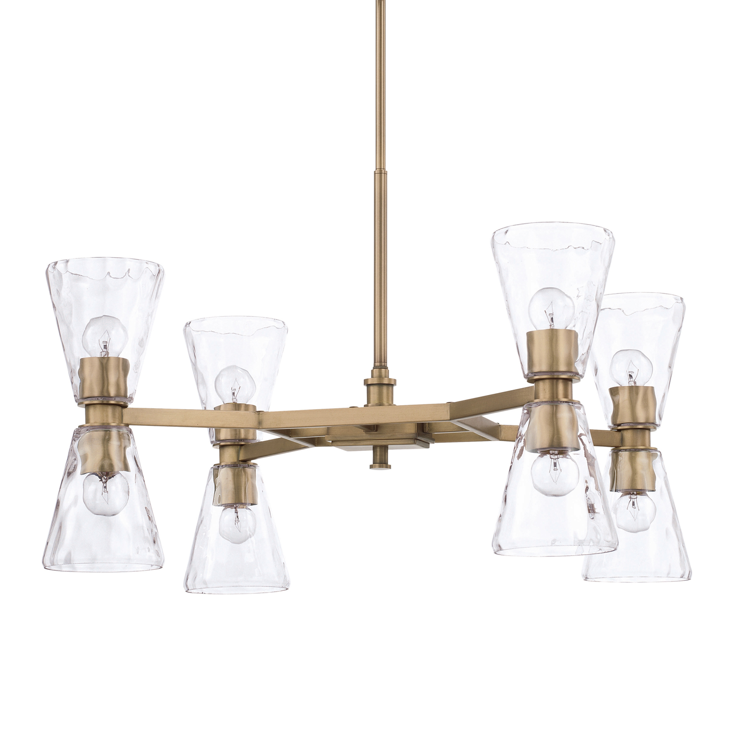 Eight Light Chandelier from the Lyra collection by Capital Lighting 427581AD 456