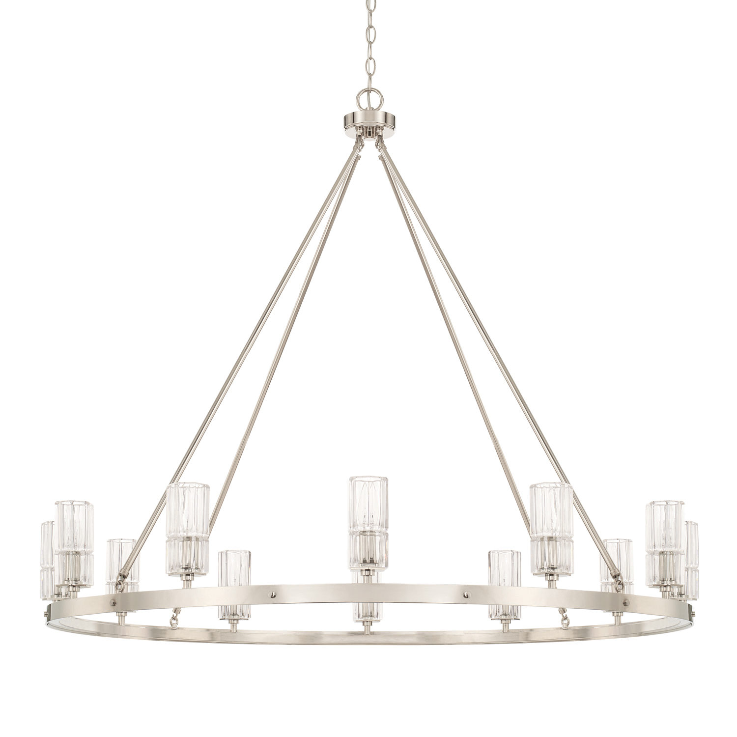 12 Light Chandelier from the Sloane collection by Capital Lighting 427601PN 457
