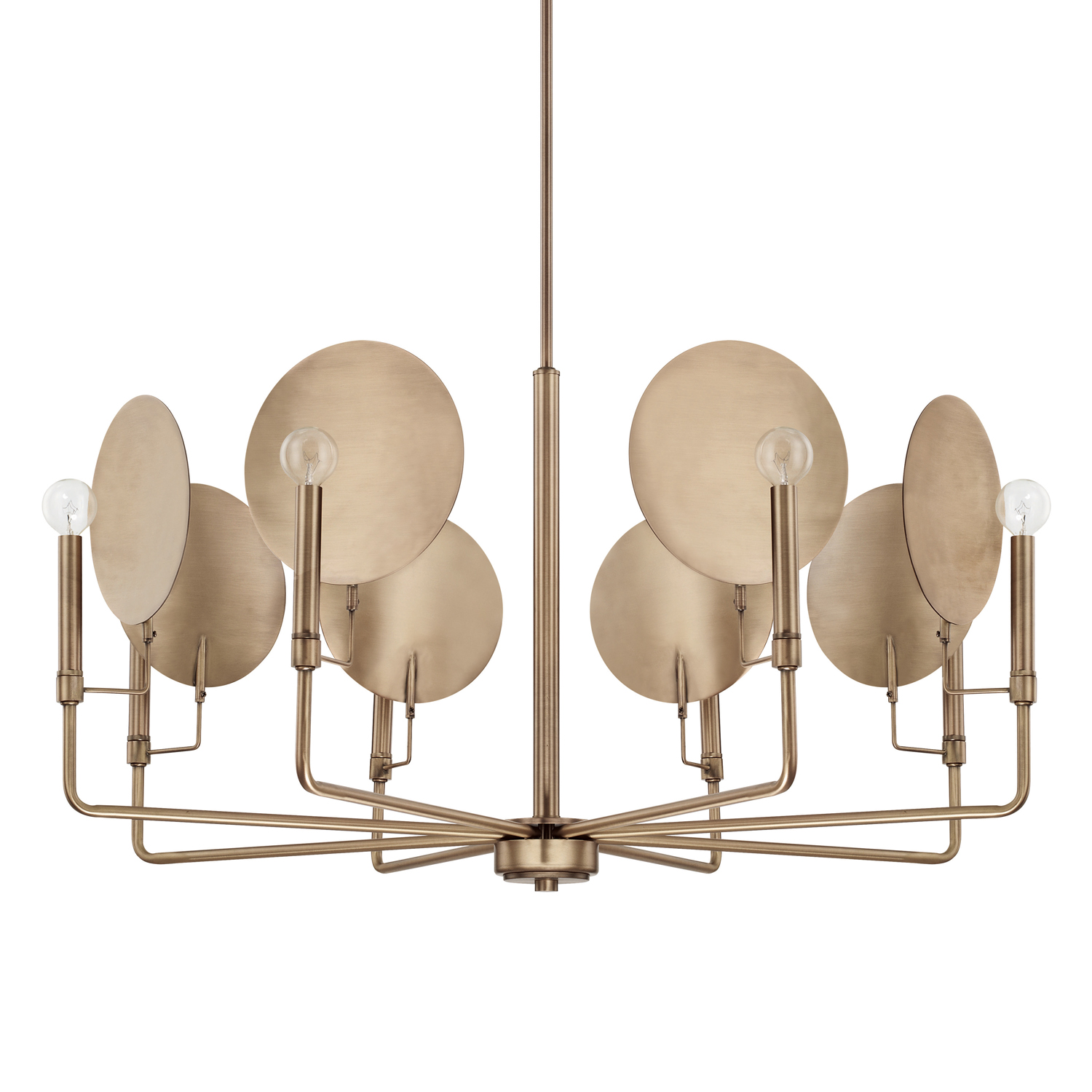 Eight Light Chandelier from the Wells collection by Capital Lighting 427781AD