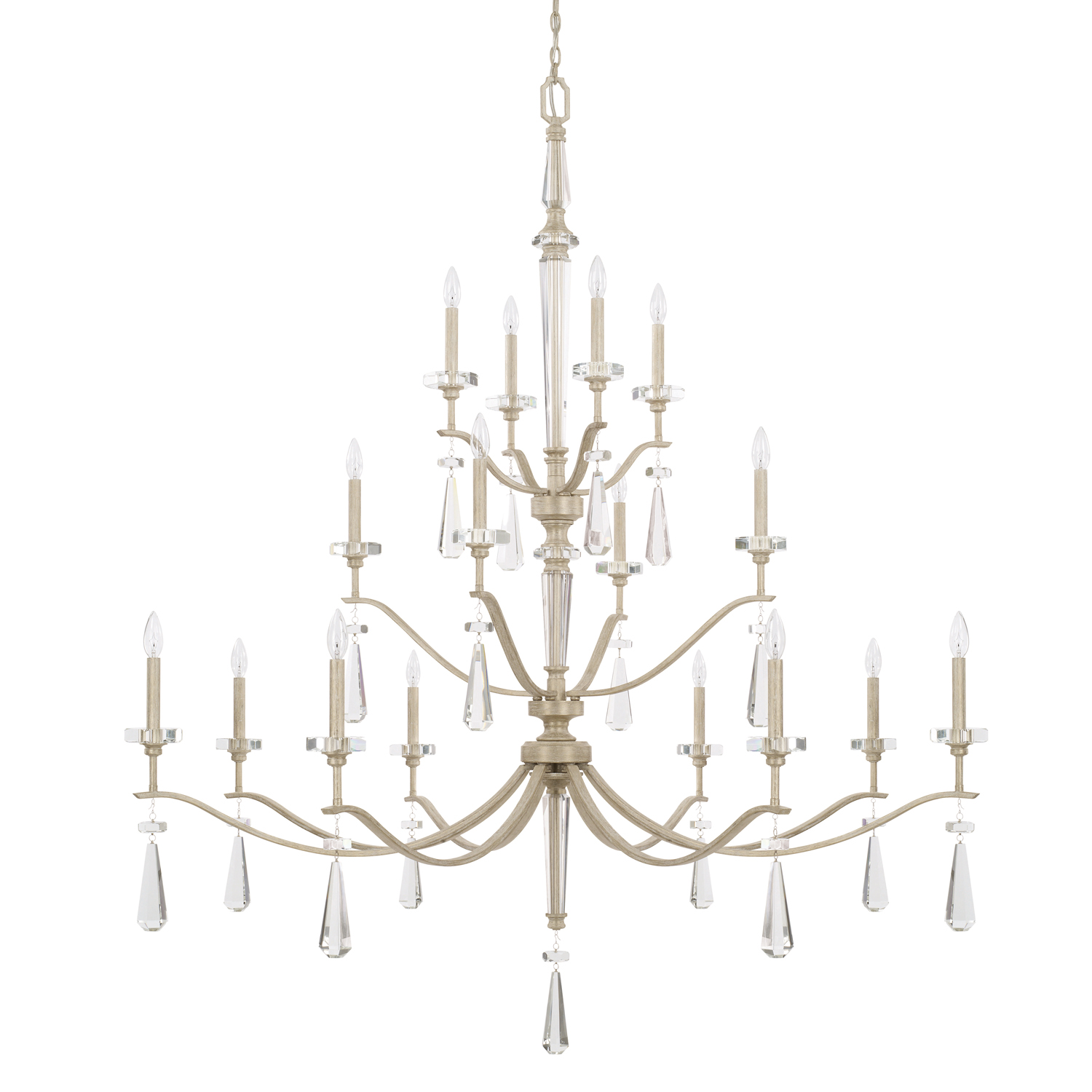 16 Light Chandelier from the Serena collection by Capital Lighting 427802WW