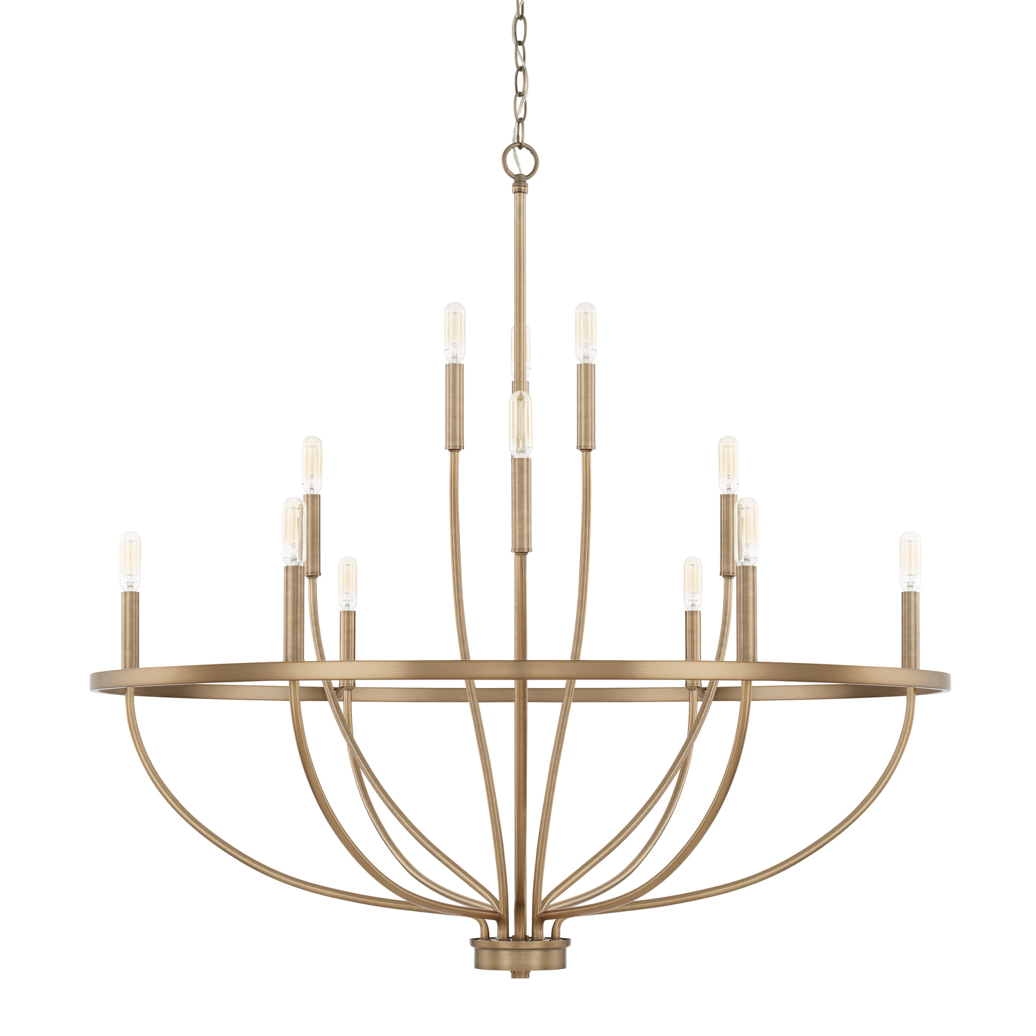 12 Light Chandelier from the Greyson collection by Capital Lighting 428501AD