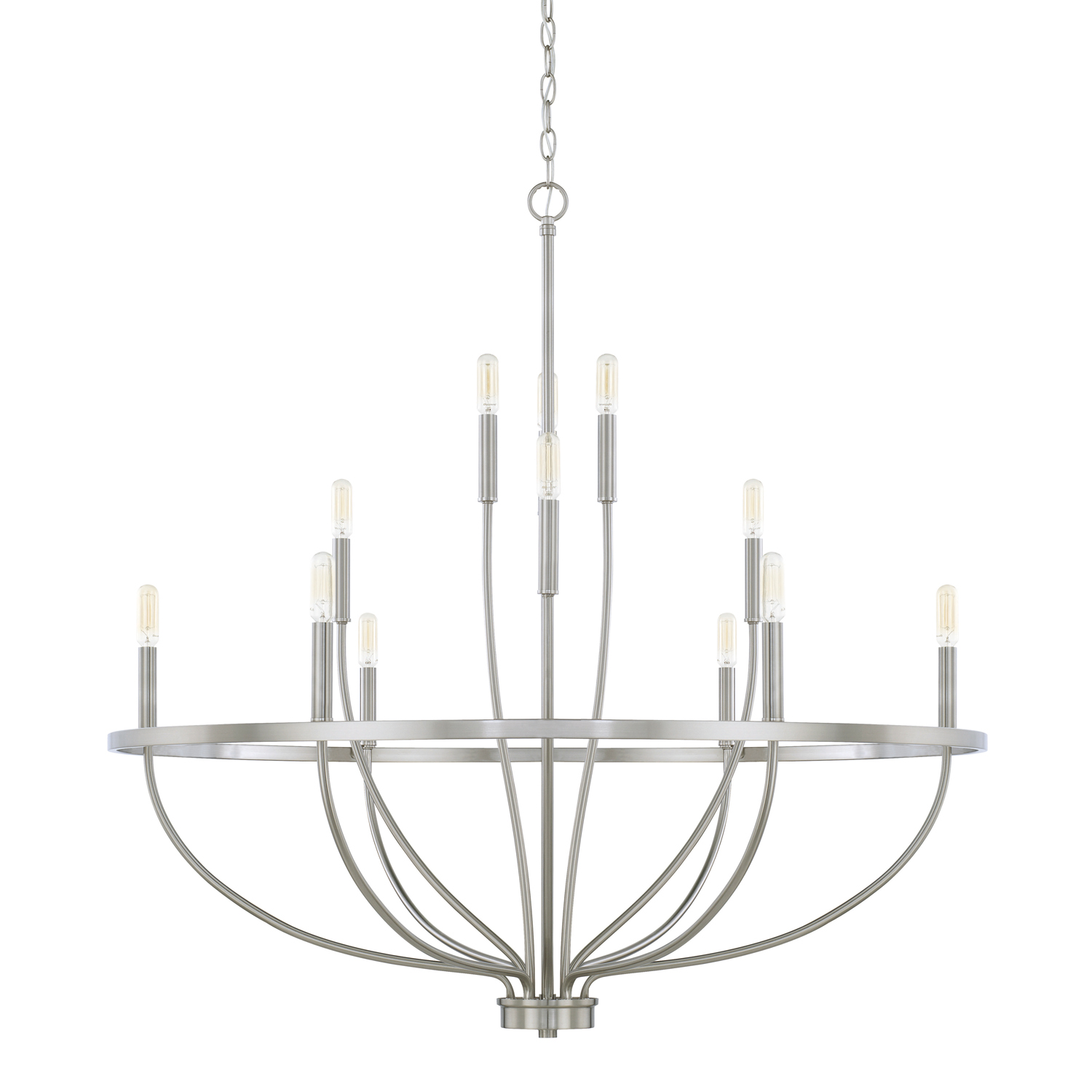 12 Light Chandelier from the Greyson collection by Capital Lighting 428501BN