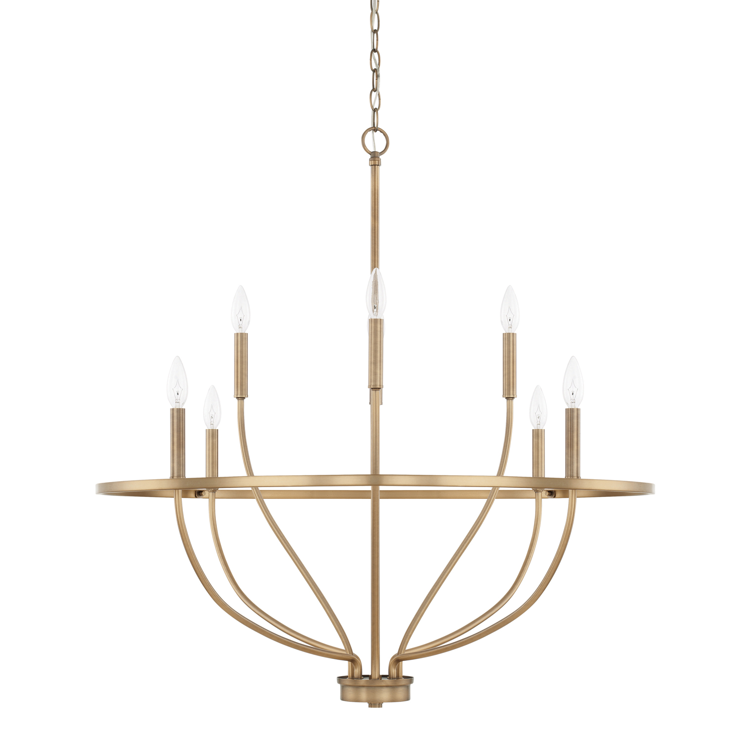 Eight Light Chandelier from the Greyson collection by Capital Lighting 428581AD
