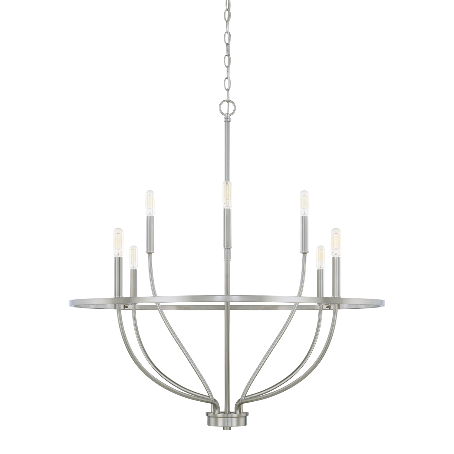 Eight Light Chandelier from the Greyson collection by Capital Lighting 428581BN