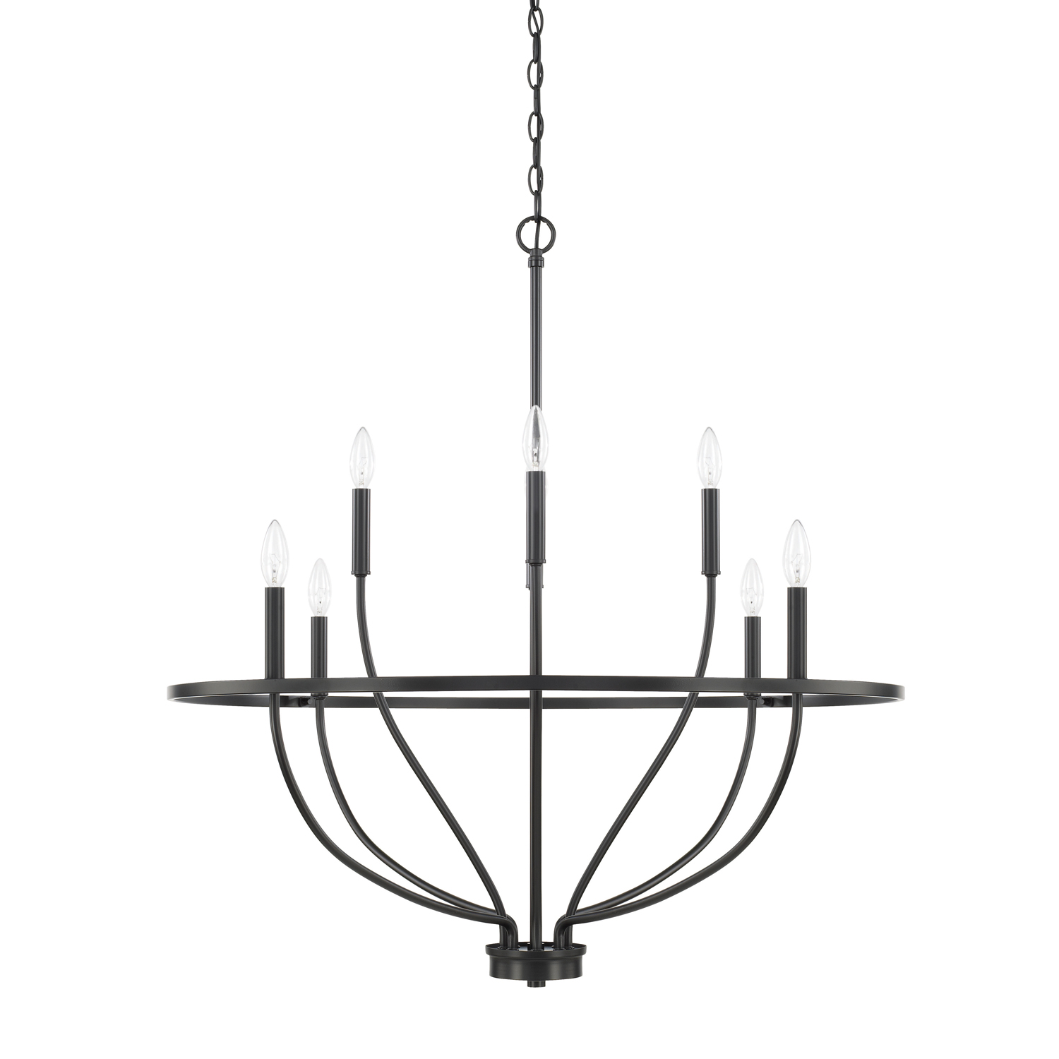 Eight Light Chandelier from the Greyson collection by Capital Lighting 428581MB