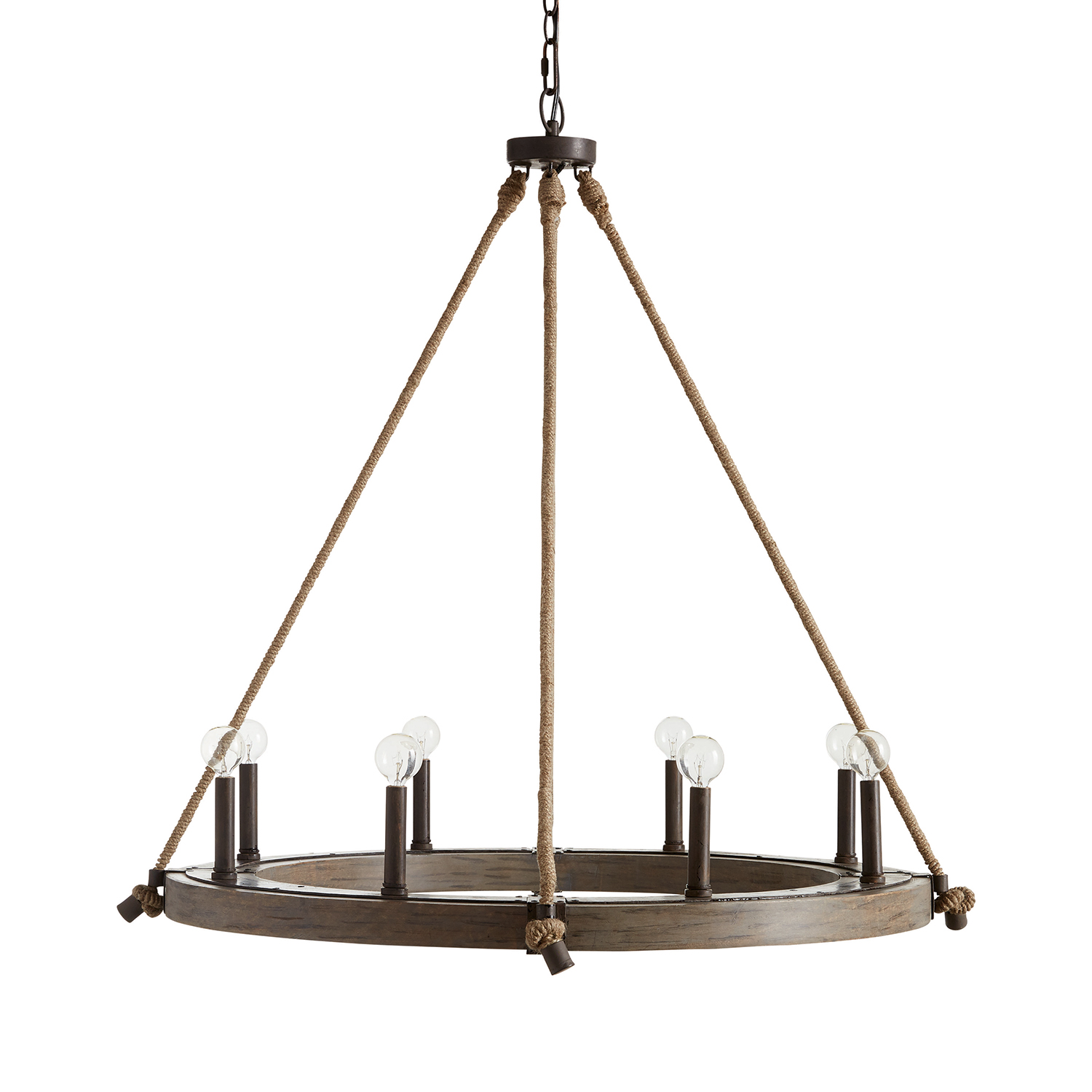 Eight Light Chandelier from the Tybee collection by Capital Lighting 429681NG