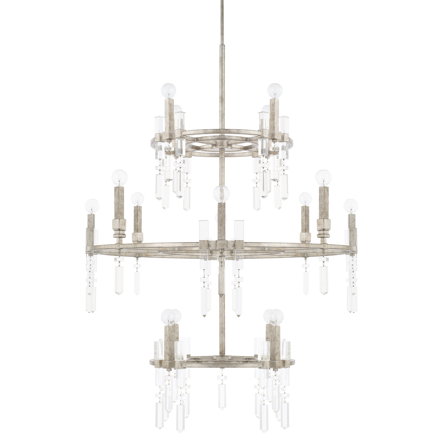 16 Light Foyer Chandelier from the Drake collection by Capital Lighting 525301AS