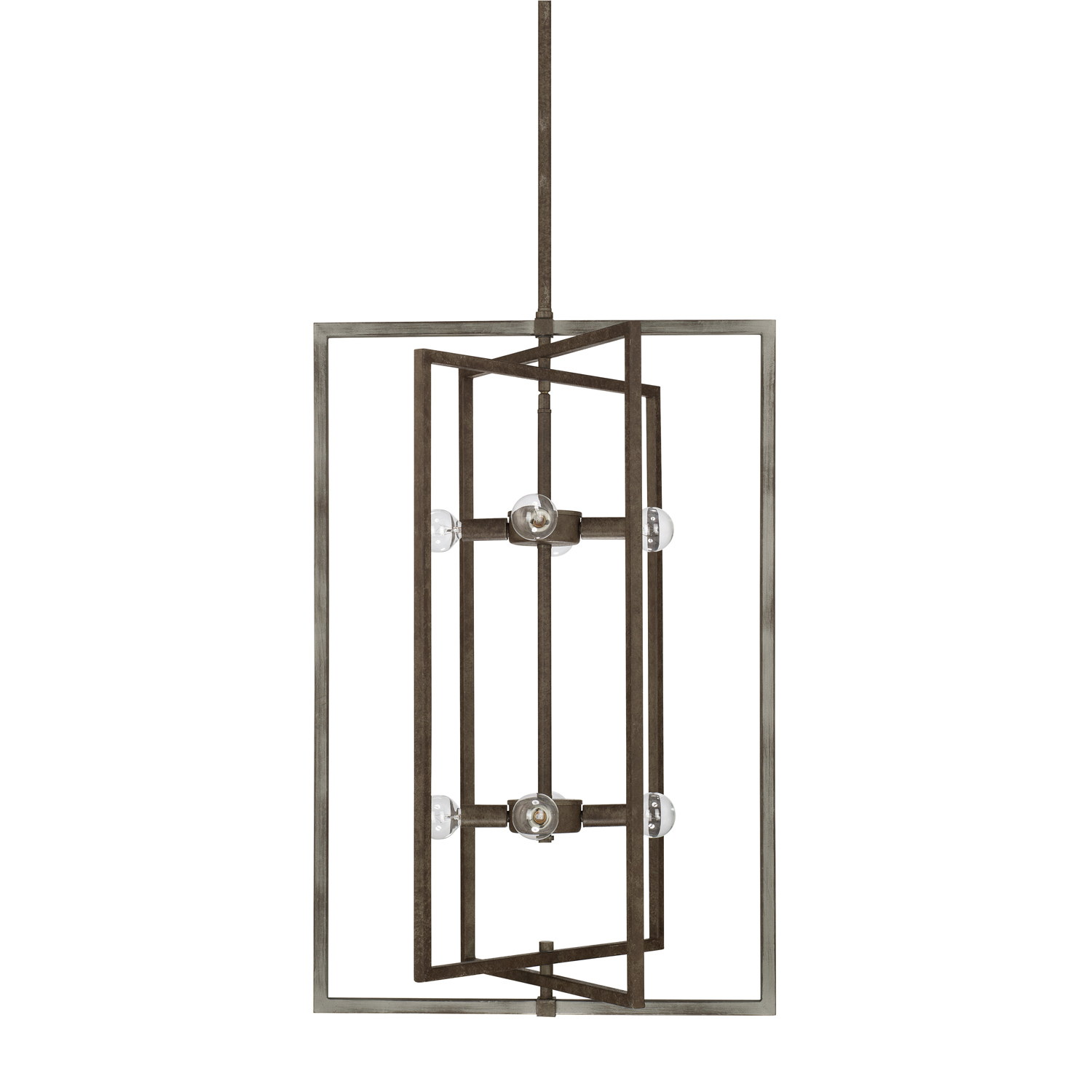 Eight Light Foyer Chandelier from the Zac collection by Capital Lighting 525981UG