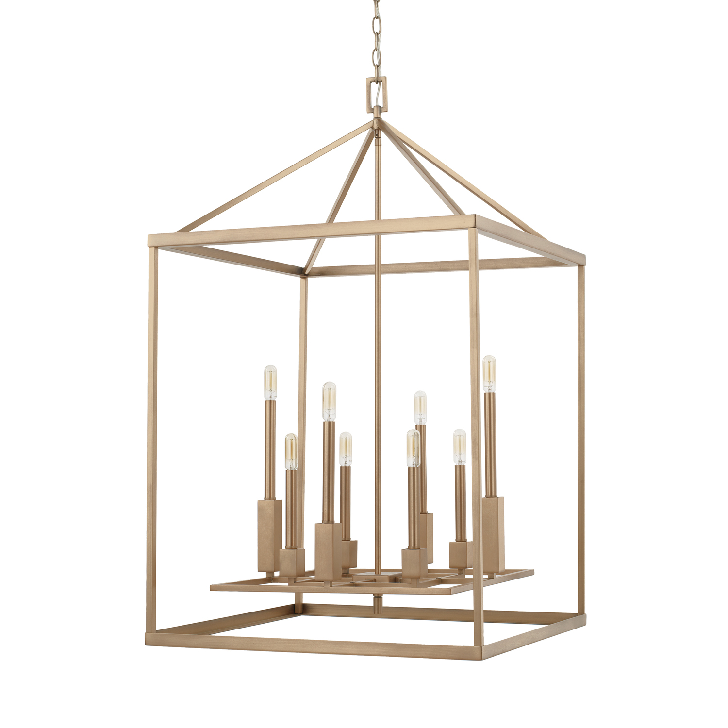 Eight Light Foyer Chandelier from the Lyra collection by Capital Lighting 527581AD