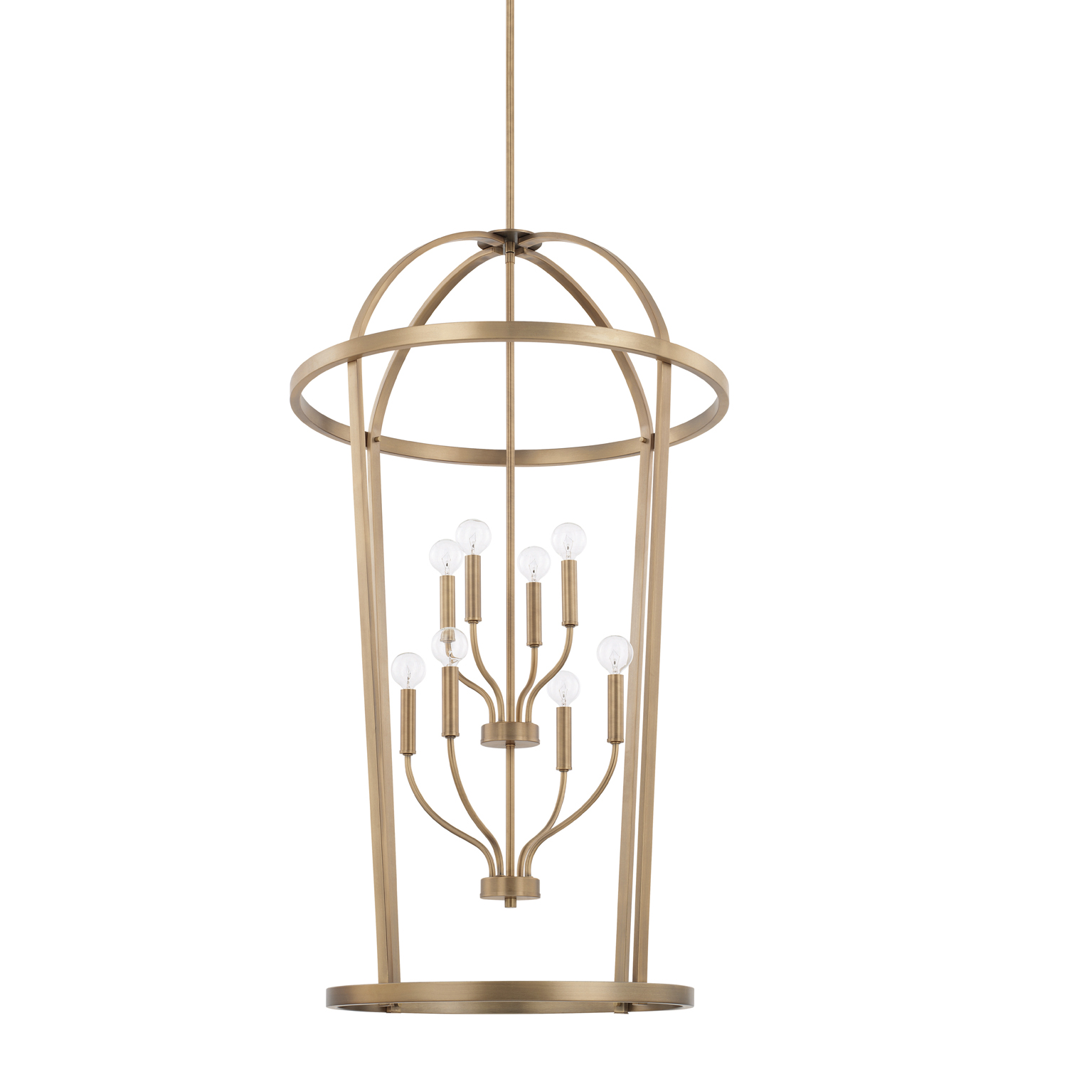 Eight Light Foyer Chandelier from the Greyson collection by Capital Lighting 528581AD