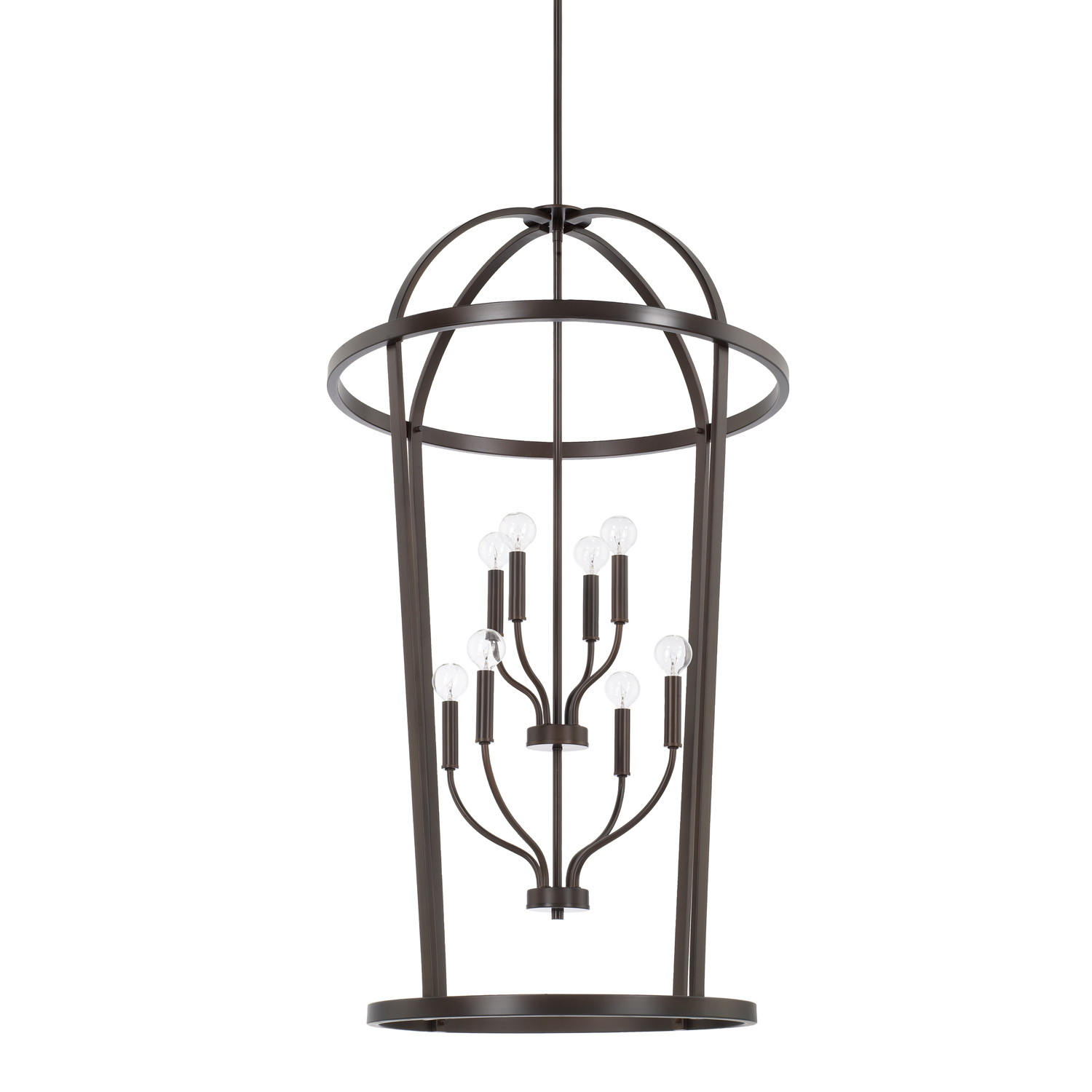 Eight Light Foyer Chandelier from the Greyson collection by Capital Lighting 528581BZ
