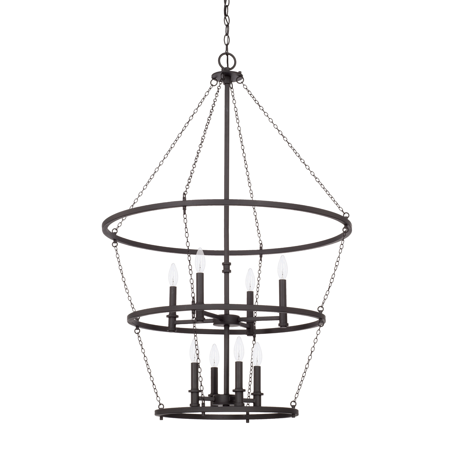Eight Light Foyer Chandelier from the Lancaster collection by Capital Lighting 528781BI