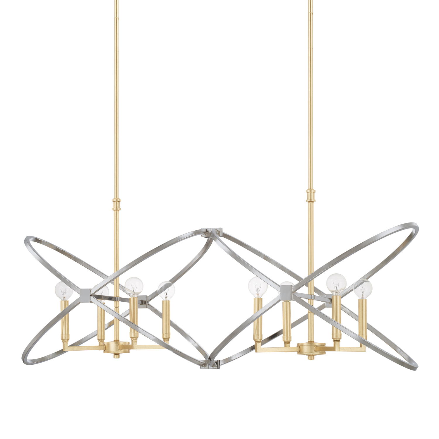 Eight Light Island Chandelier from the Fire and Ice collection by Capital Lighting 820881FI