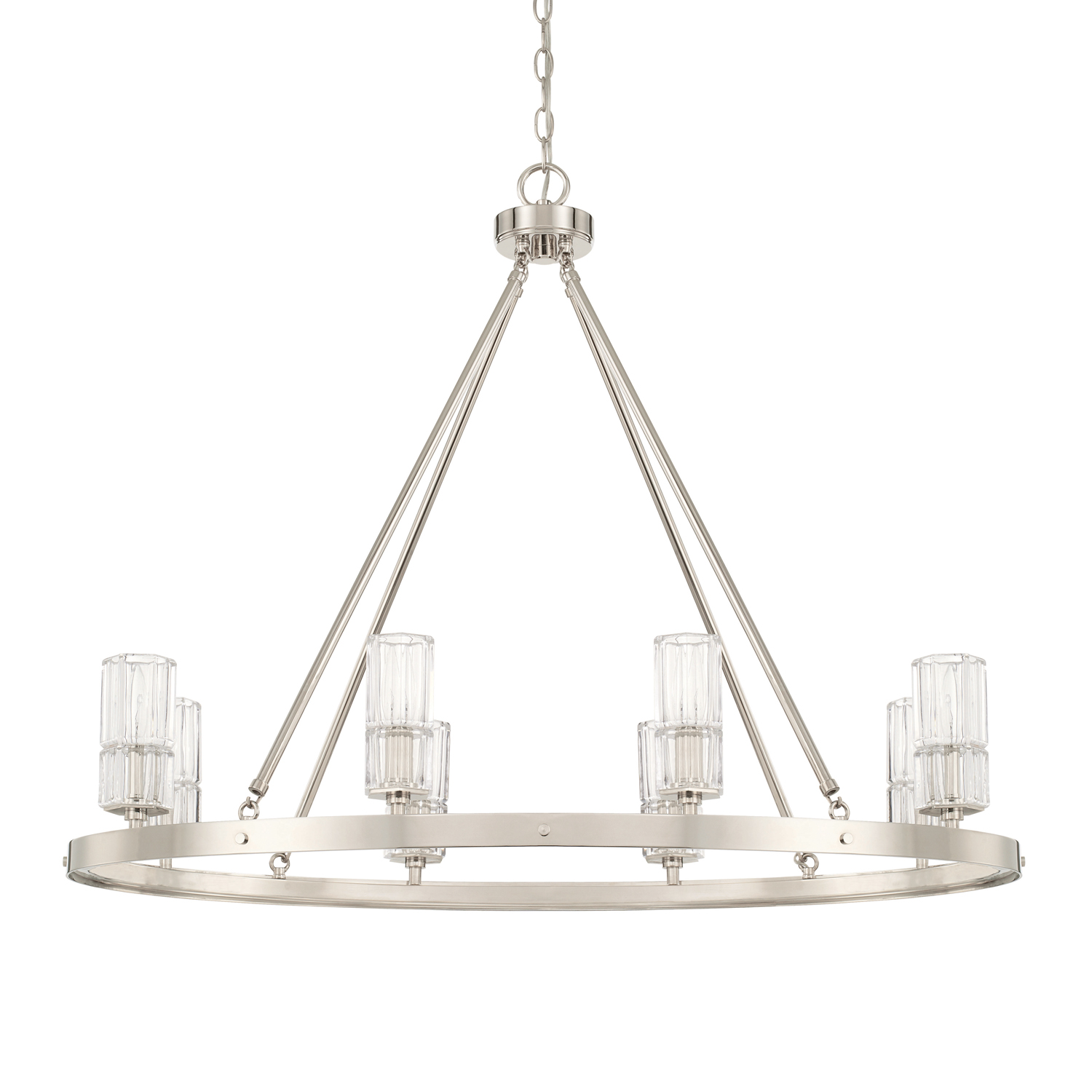 Eight Light Island Chandelier from the Sloane collection by Capital Lighting 827681PN 457