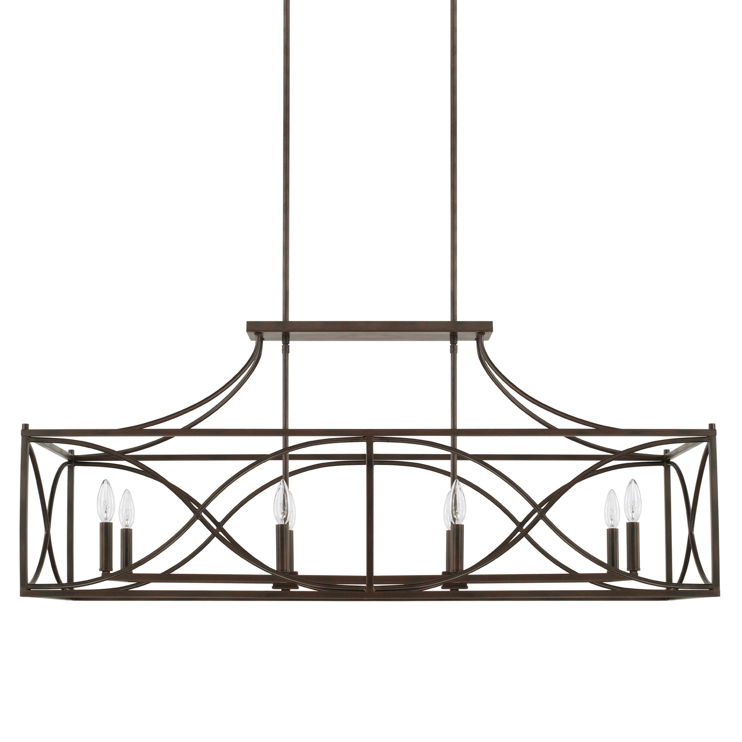 Eight Light Island Chandelier from the Tybee collection by Capital Lighting 829181NG