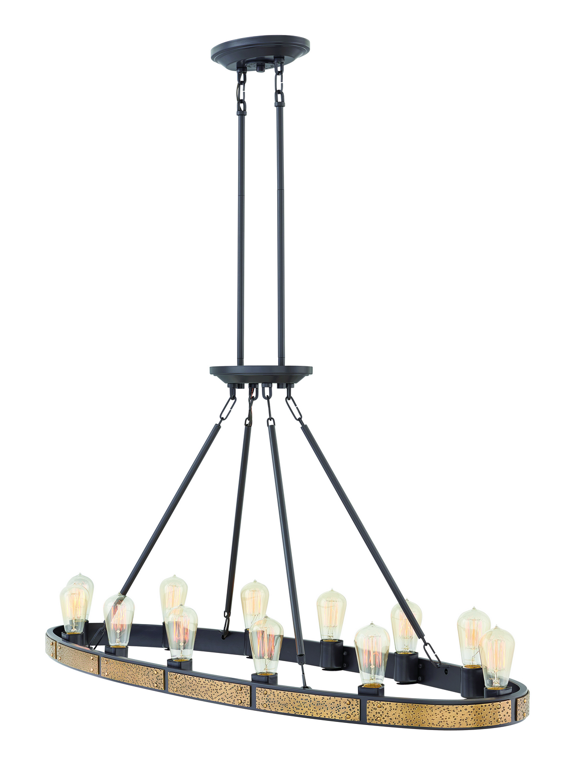 12 Light Linear Chandelier from the Everett collection by Hinkley 4396BZ
