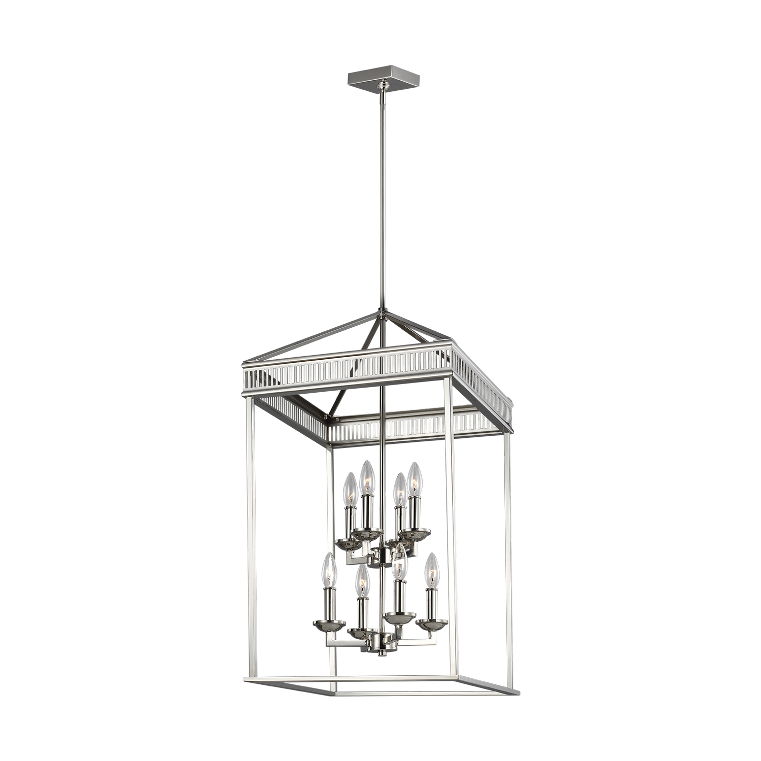 Eight Light Chandelier from the Woodruff collection by Feiss F32768PN