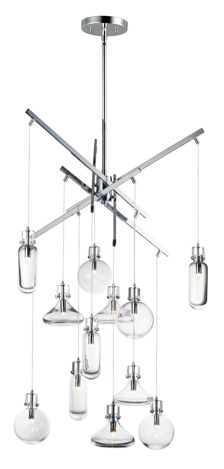 12 Light Pendant from the Kem collection by ET2 E24312 18PC