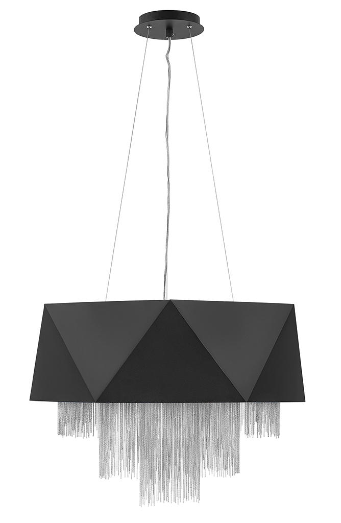 Eight Light Chandelier from the Zuma collection by Fredrick Ramond FR32805SBK SV