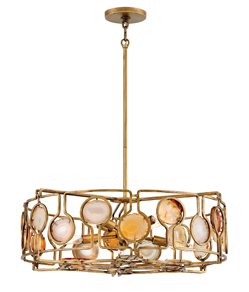 Eight Light Chandelier from the Lucia collection by Fredrick Ramond FR40146BNG
