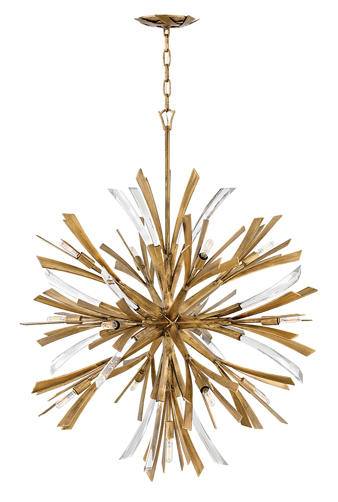 13 Light Chandelier from the Vida collection by Fredrick Ramond FR40905BNG