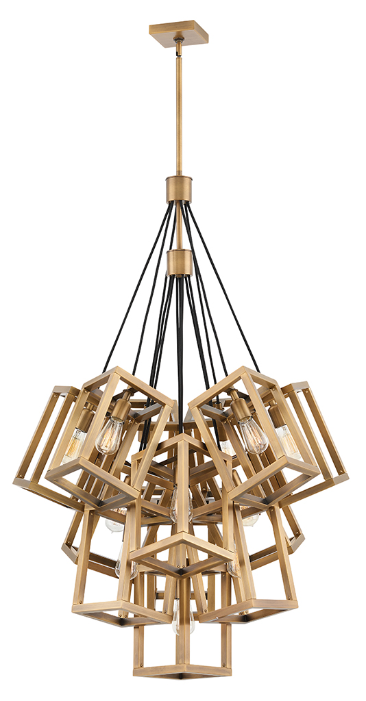 13 Light Foyer Pendant from the Ensemble collection by Fredrick Ramond FR42449BBZ