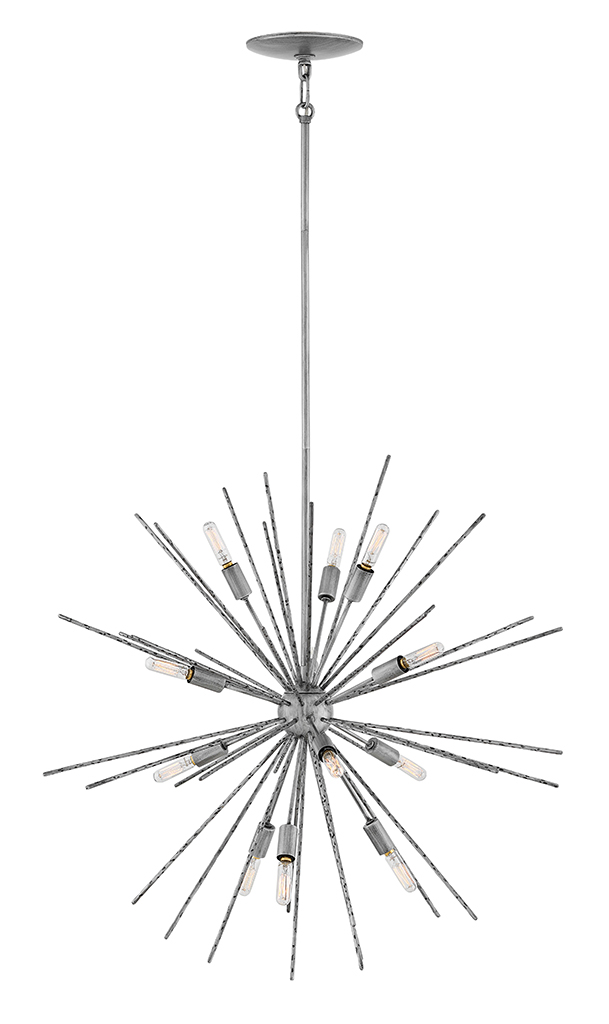 12 Light Pendant from the Tryst collection by Fredrick Ramond FR43015BNN