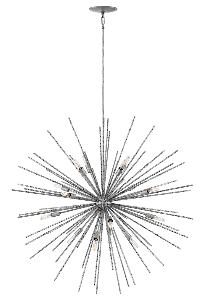 16 Light Pendant from the Tryst collection by Fredrick Ramond FR43016BNN