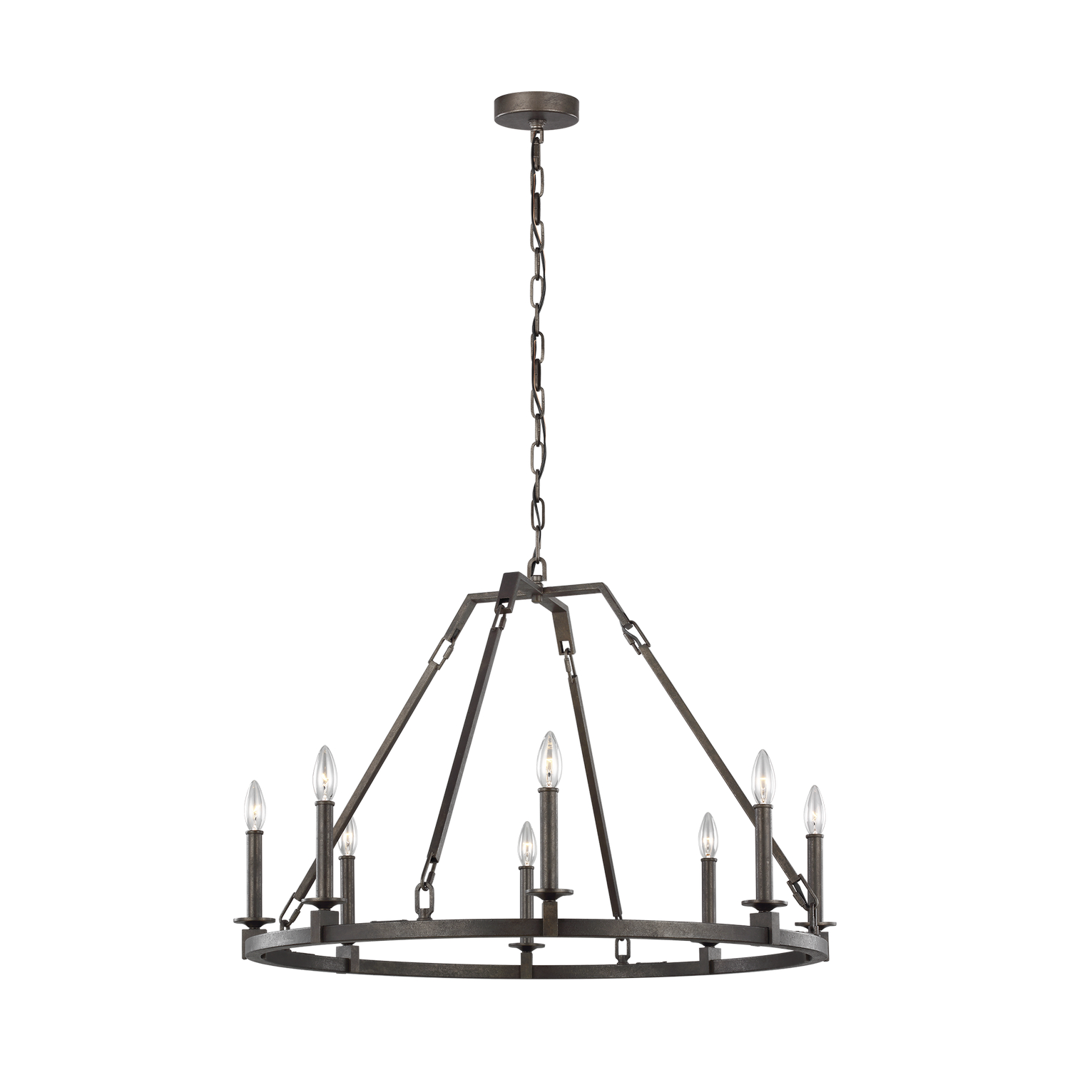Eight Light Chandelier from the Landen collection by Feiss F32148SMS