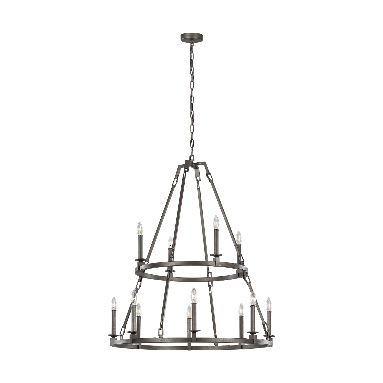 12 Light Chandelier from the Landen collection by Feiss F321512SMS