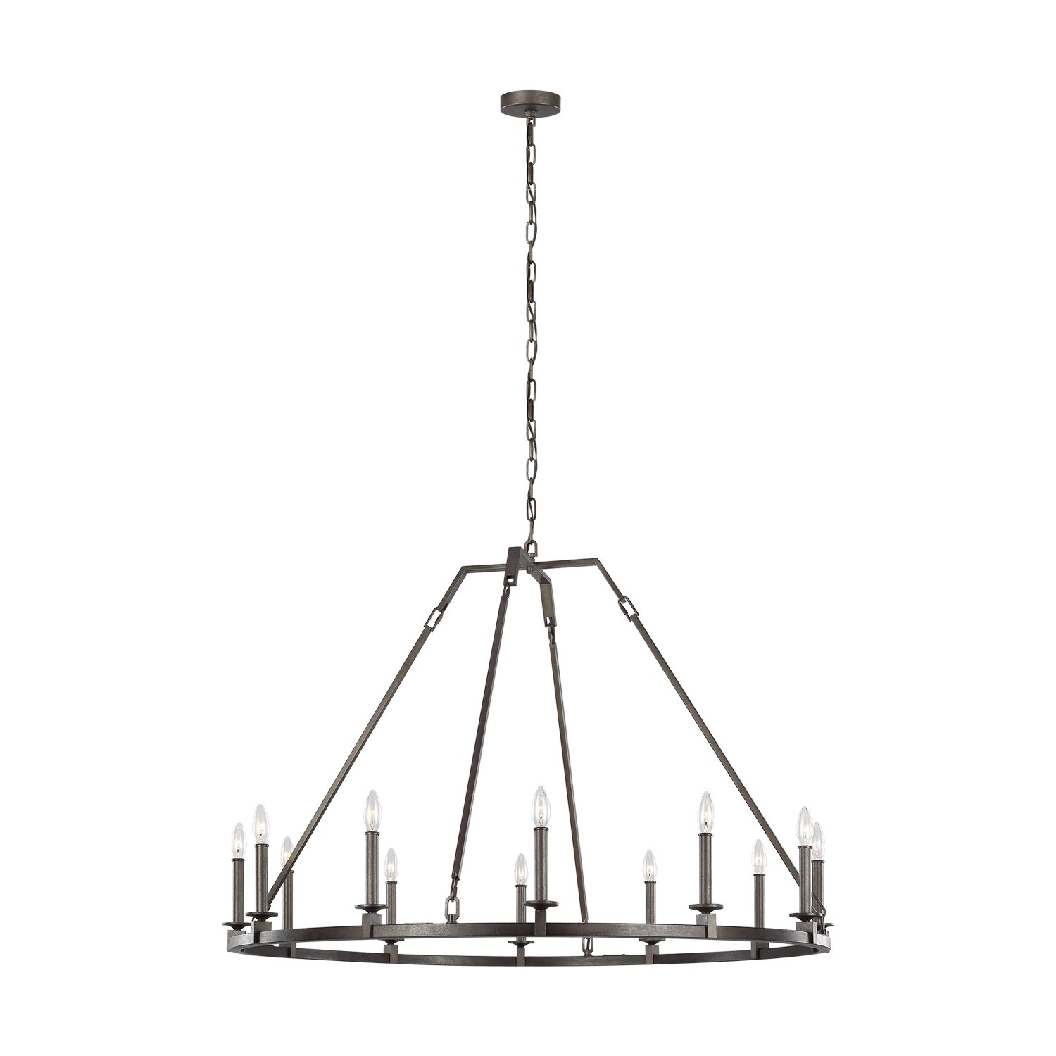 12 Light Chandelier from the Landen collection by Feiss F321612SMS