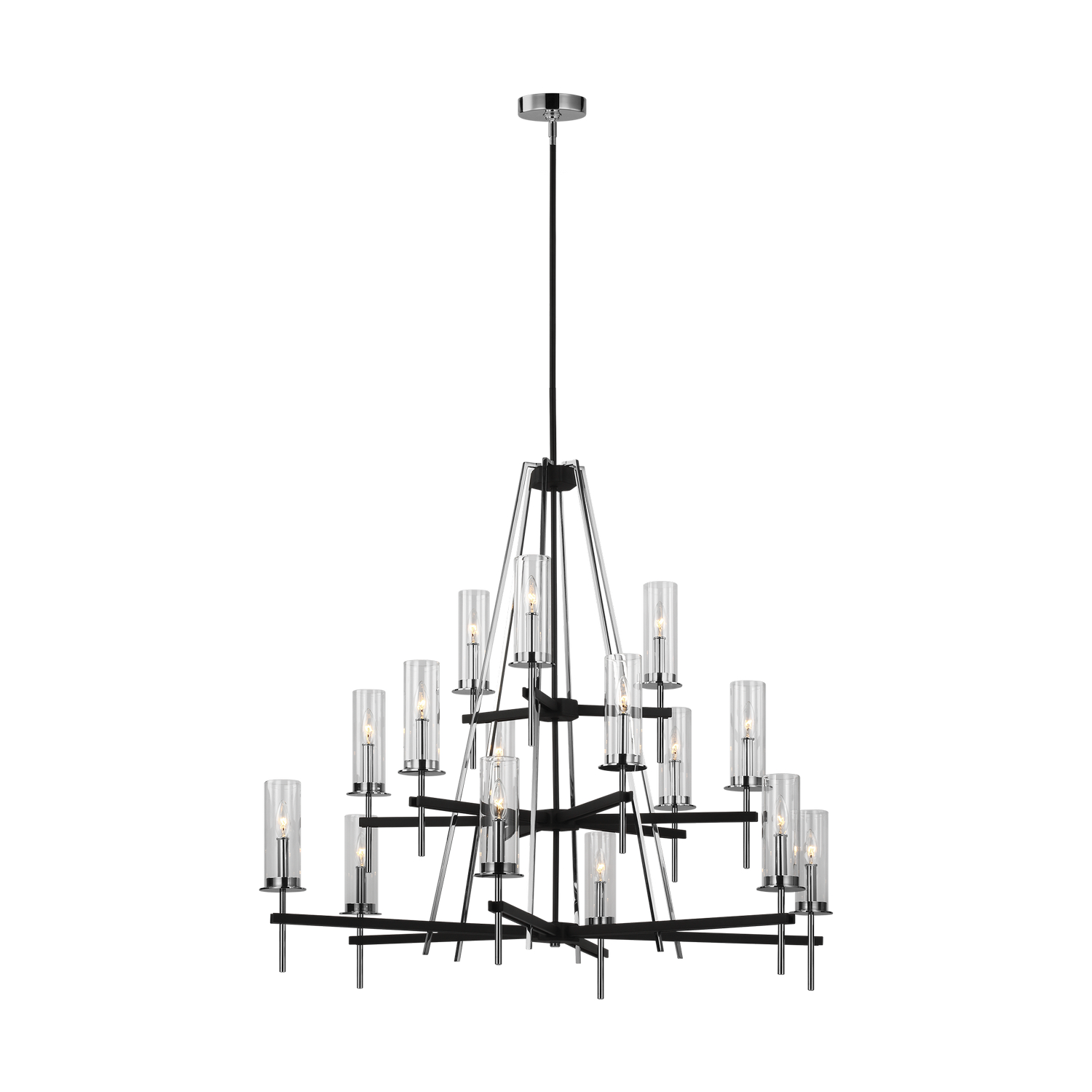 15 Light Chandelier from the Broderick collection by Feiss F322815TXBCH