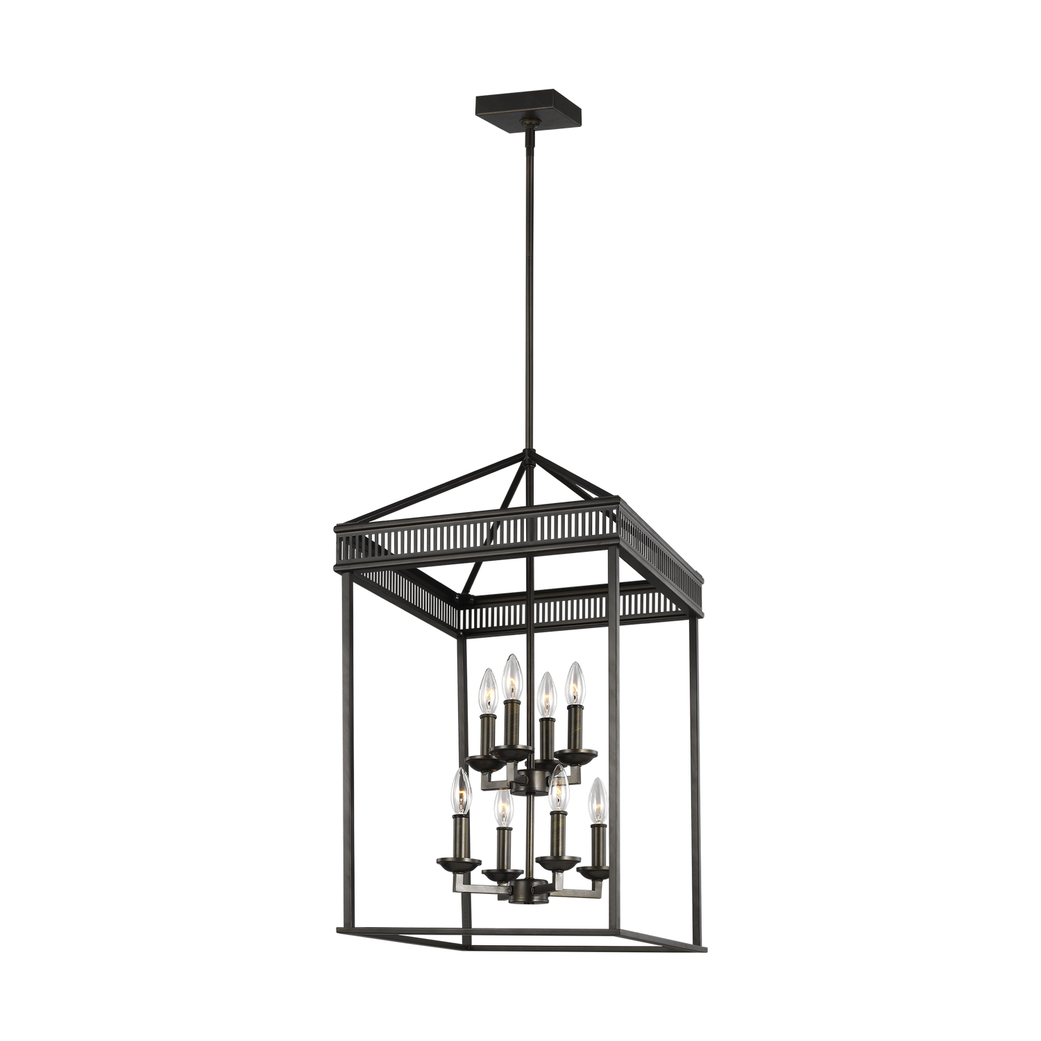 Eight Light Chandelier from the Woodruff collection by Feiss F32768ANBZ