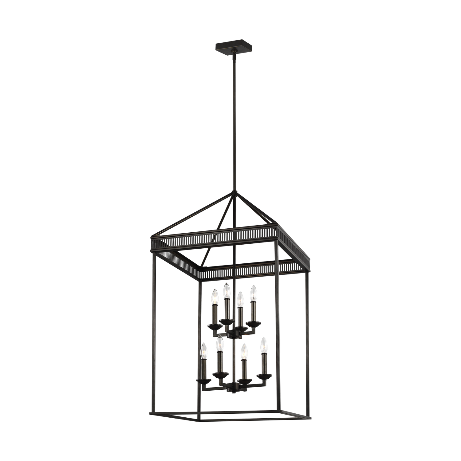 Eight Light Chandelier from the Woodruff collection by Feiss F32778ANBZ